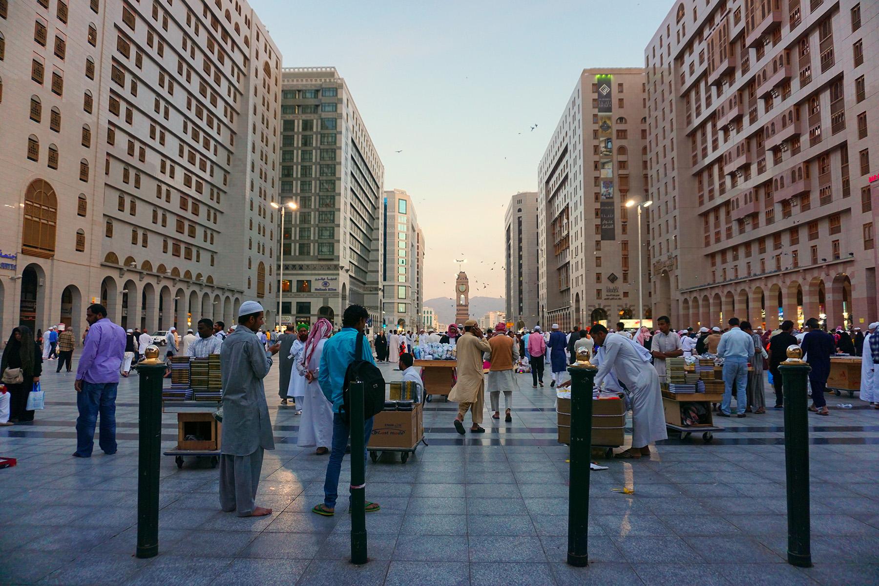 A lively street in Medina