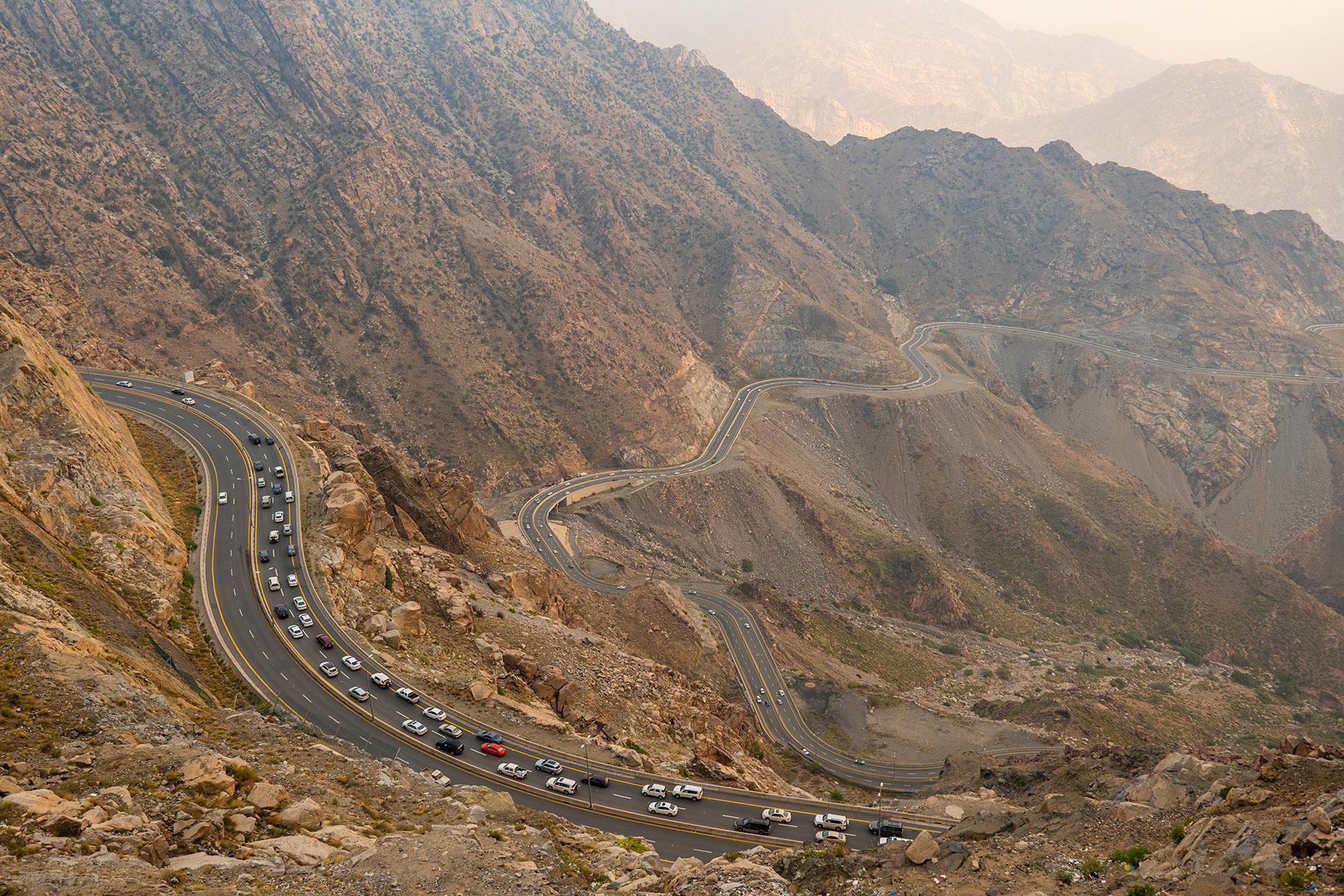 Mountain road in Saudi Arabia