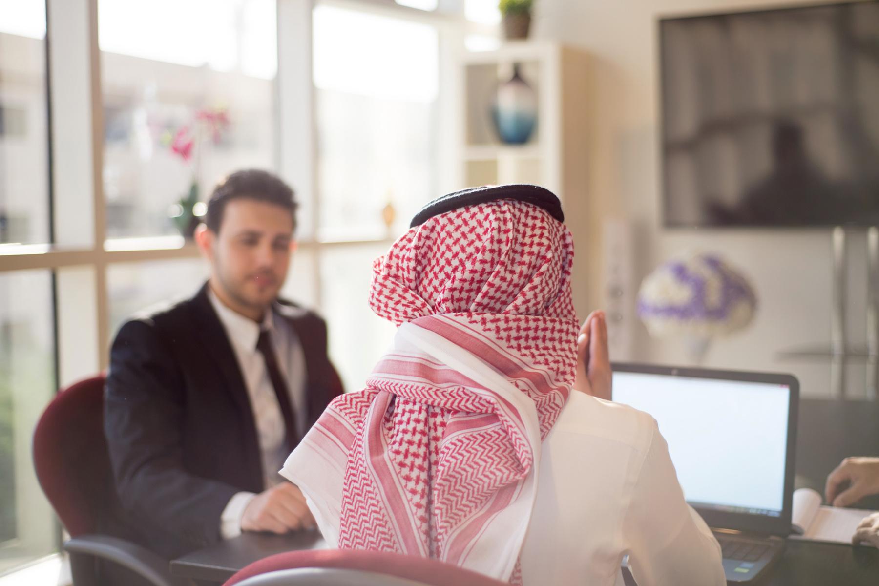 Business meeting in Saudi Arabia