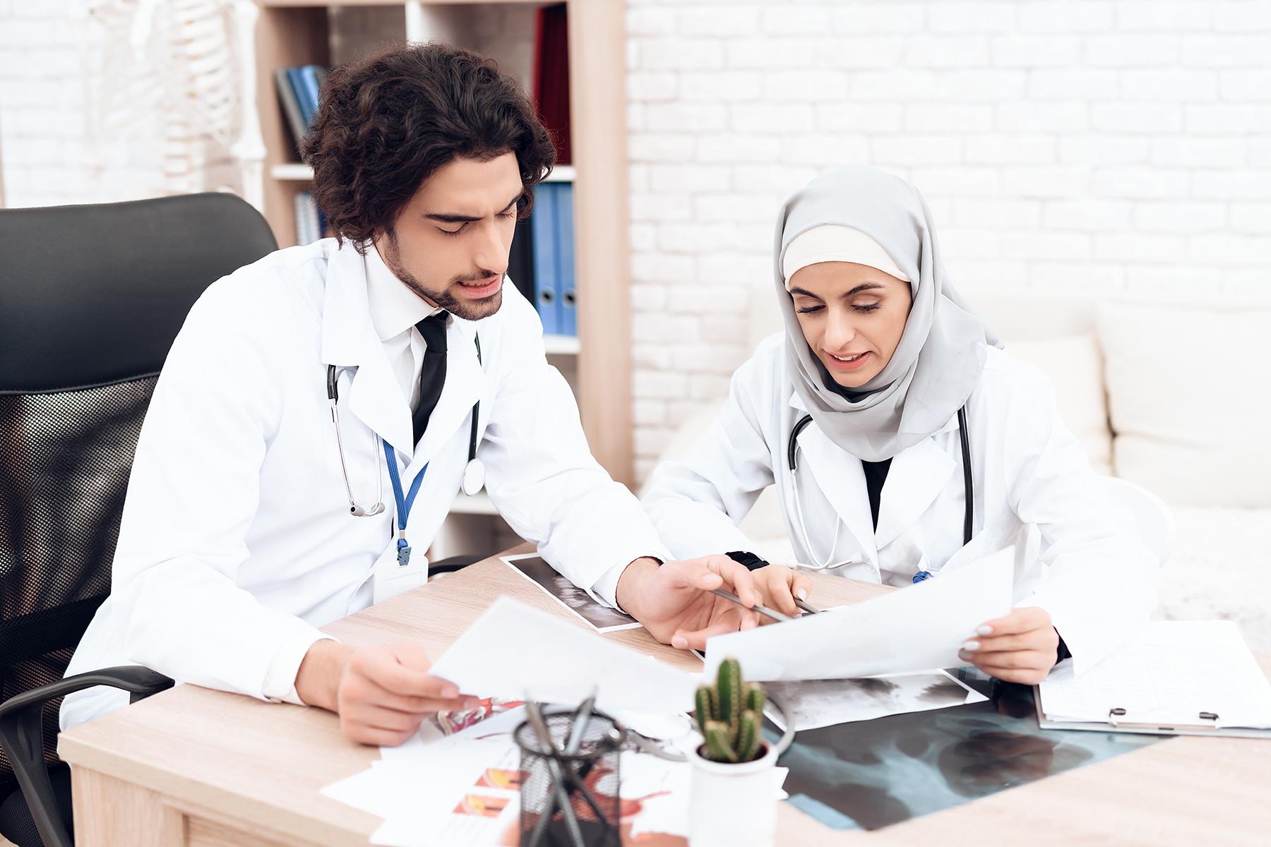 Two Saudi doctors