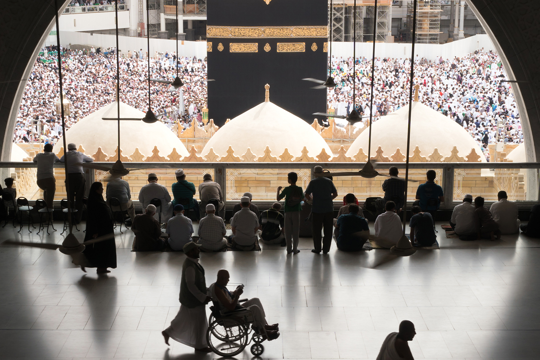 The Kaaba in Mecca is accessible to pilgrims with disabilities