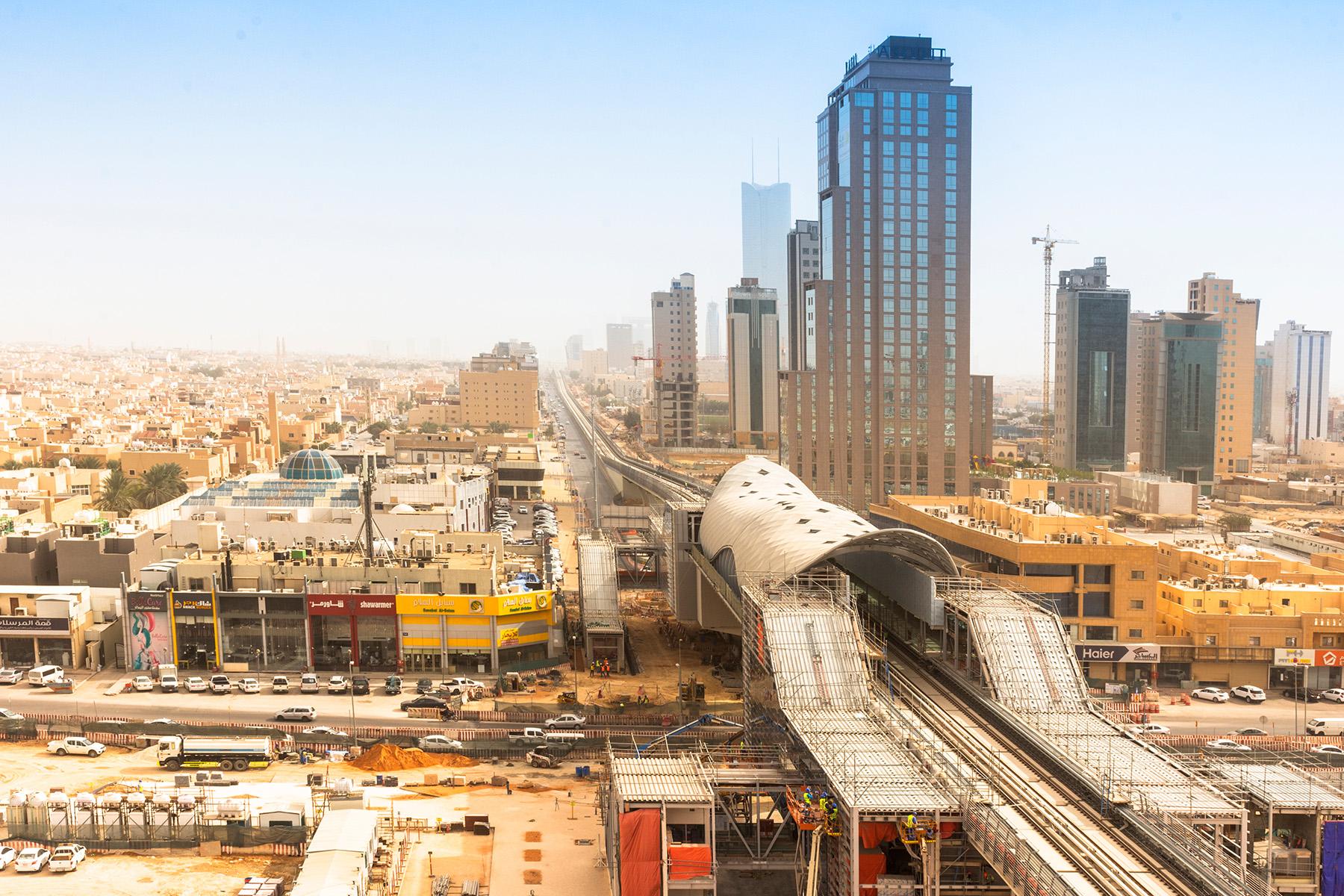 A Riyadh Metro station under construction