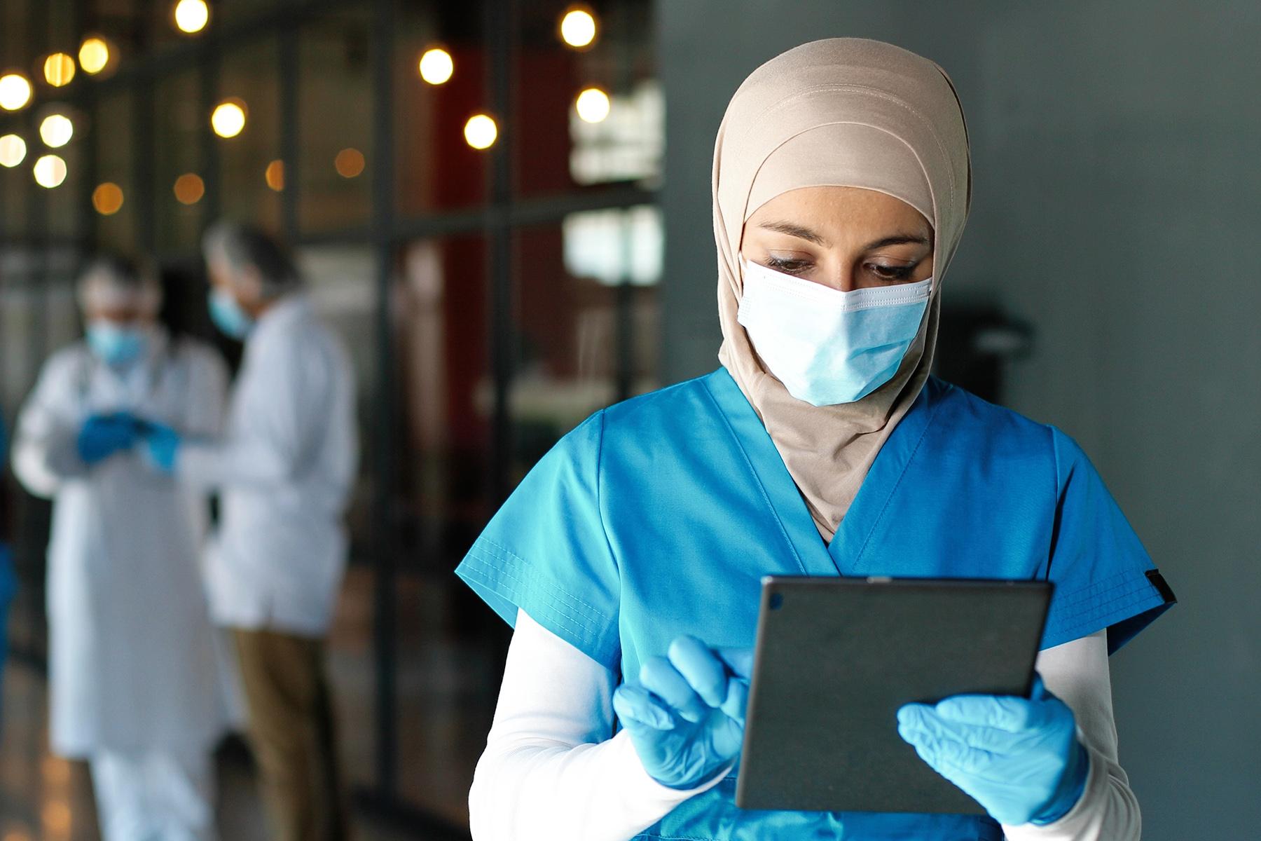 Female doctor in Saudi Arabia