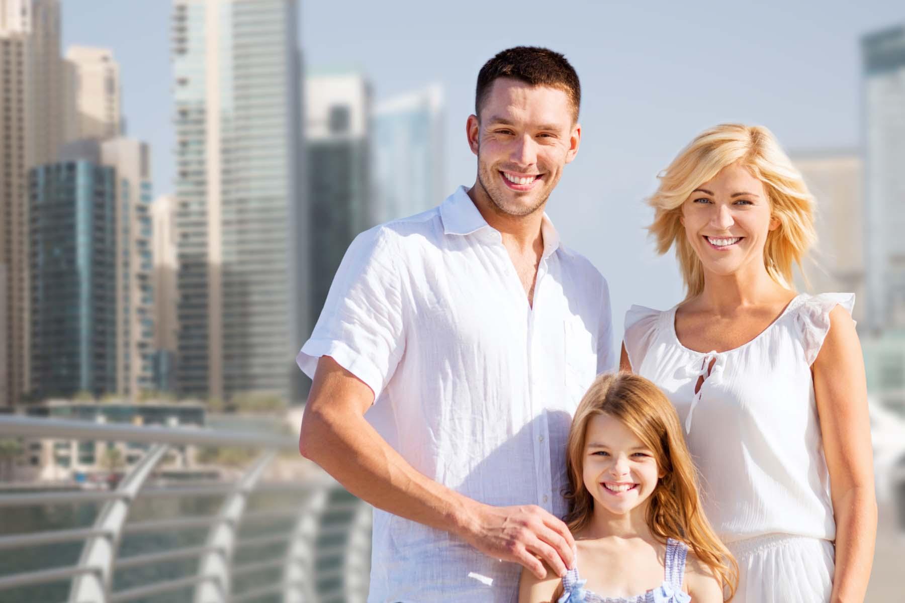 Family in Dubai
