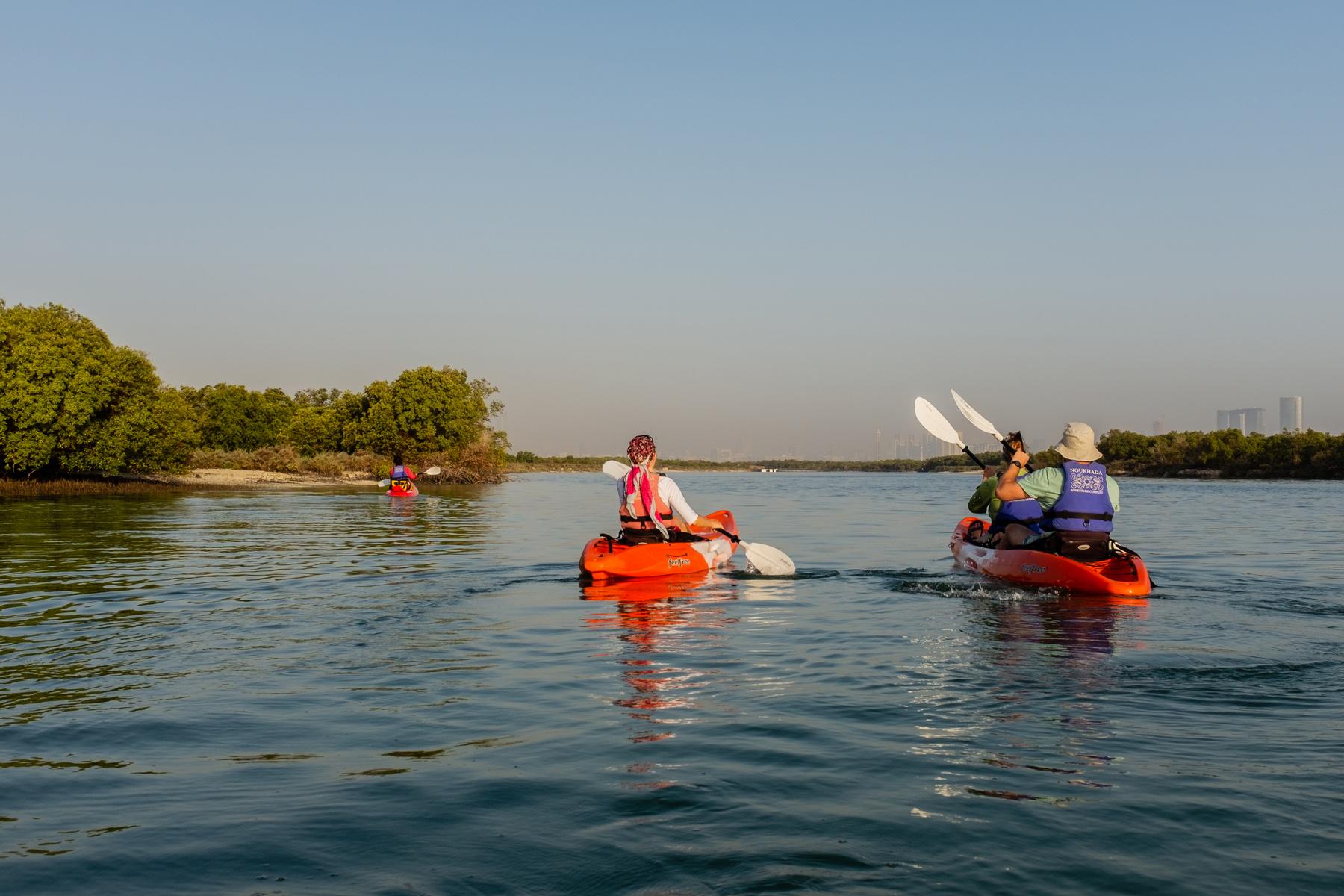 Kayaking through mangroves in Abu Dhabi