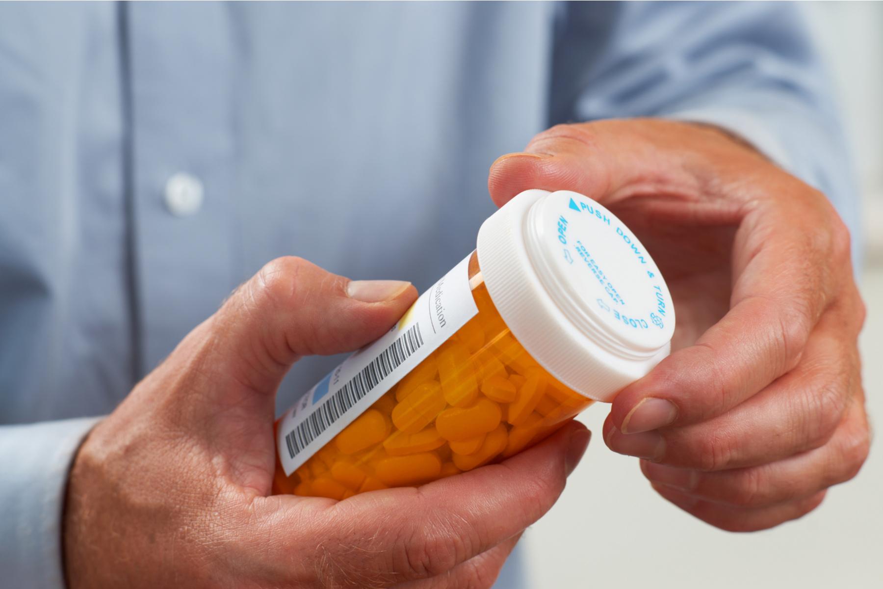 Bottle of prescription drugs