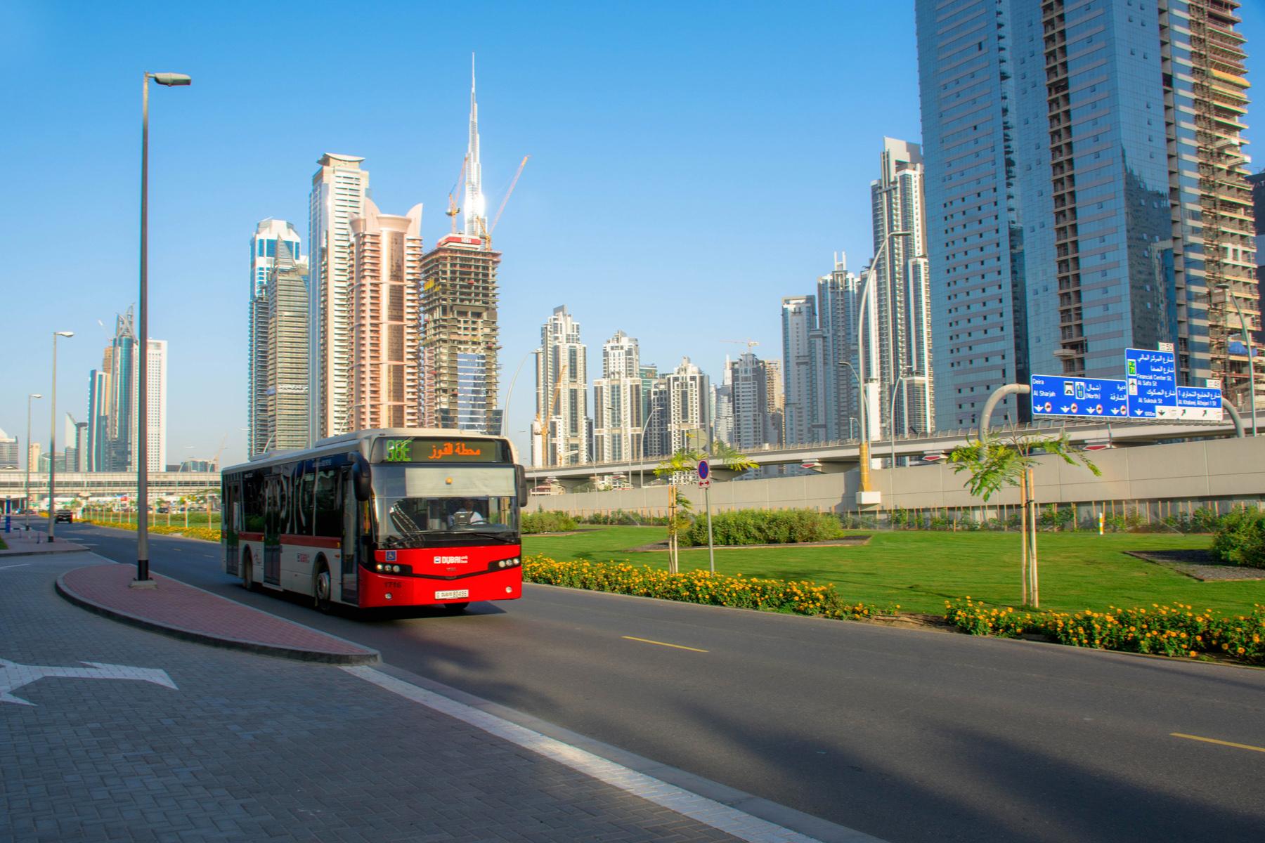 Public bus in the UAE