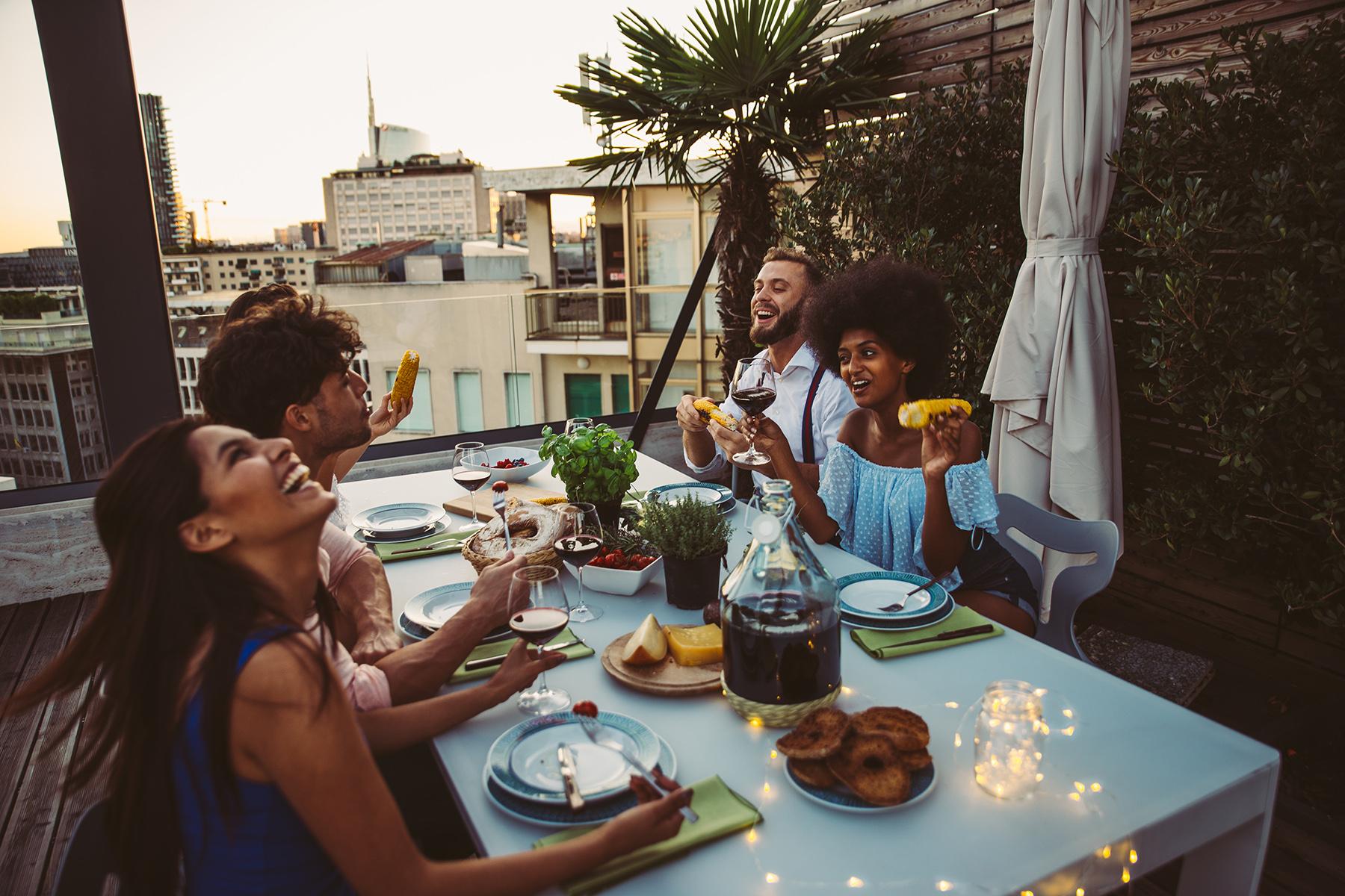 Rooftop dinner in Dubai