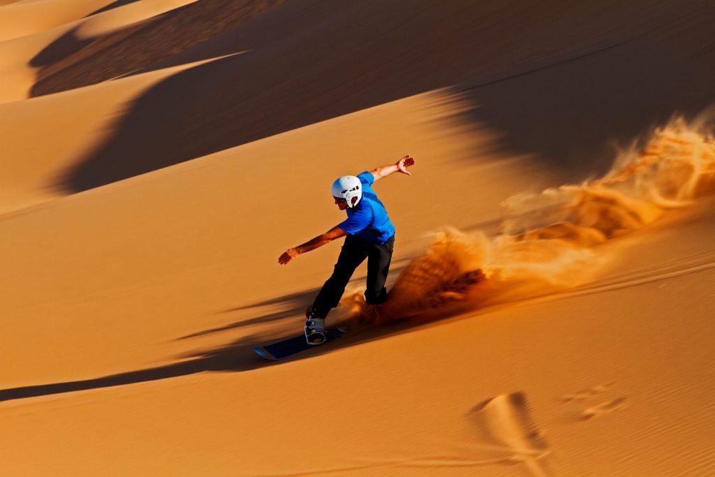Sandboarding in Abu Dhabi