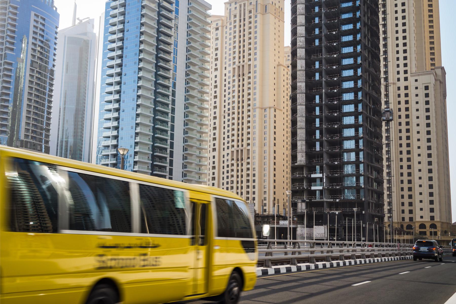 School bus in Dubai
