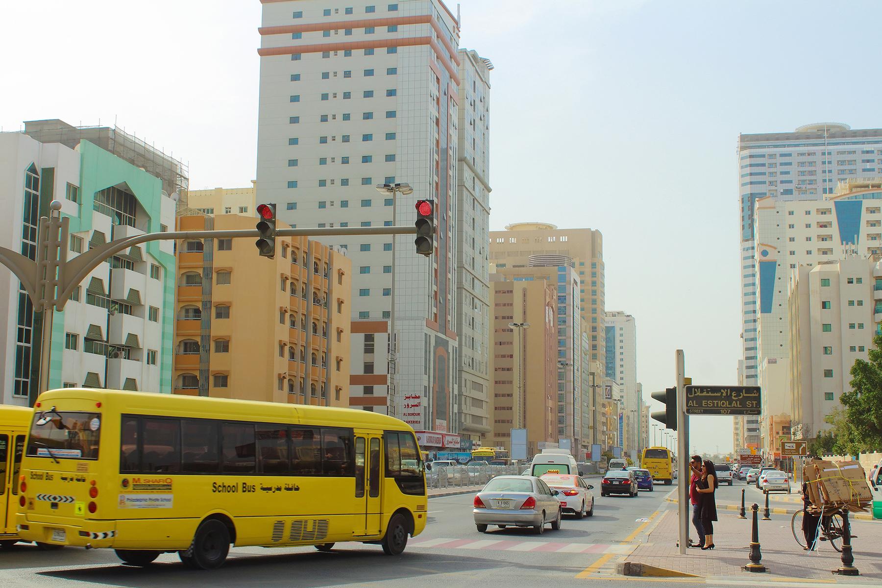 School bus in Sharjah