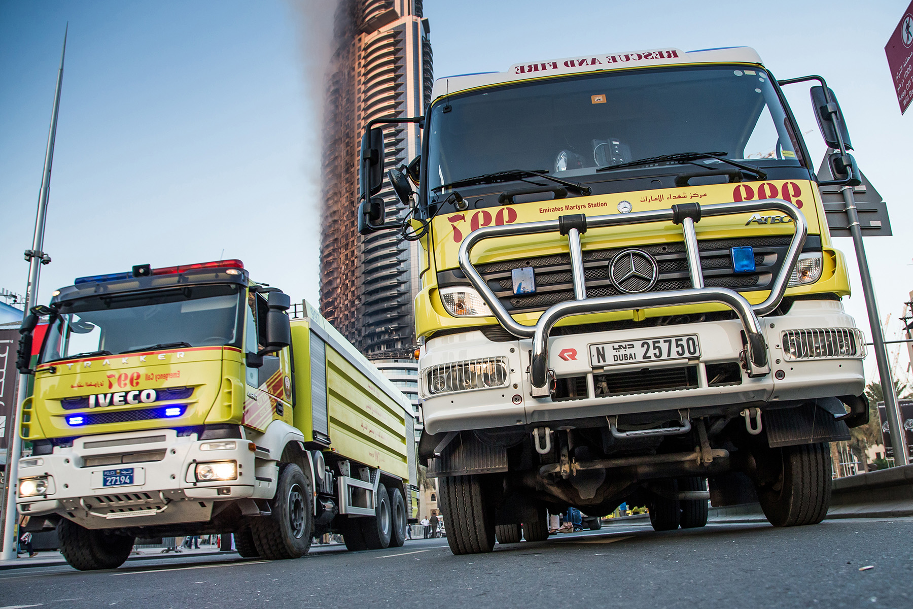 Fire engine in the UAE