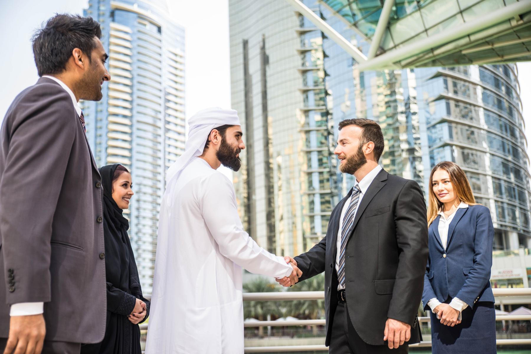 Business associates in Dubai