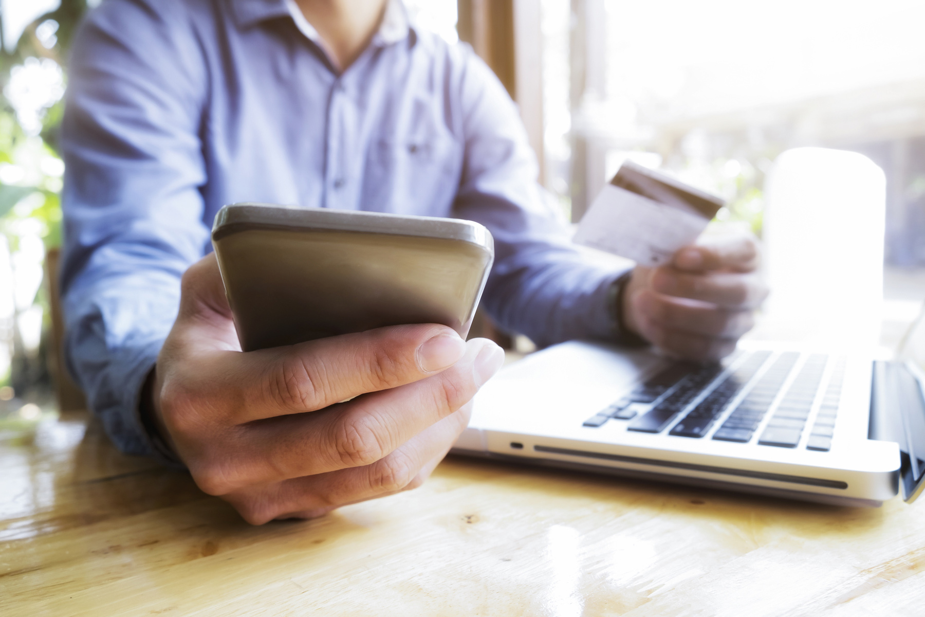 Banking on a mobile phone