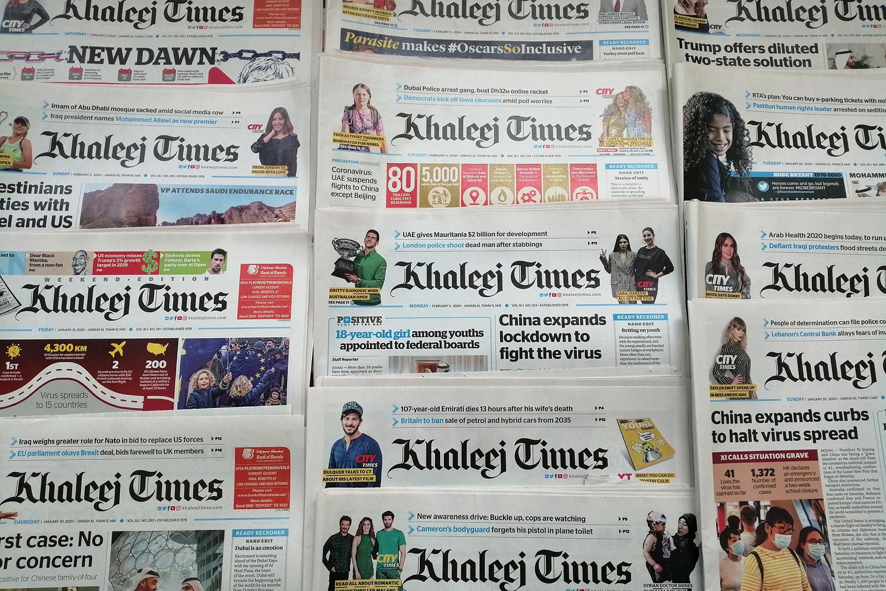 Khaleej Times newspaper