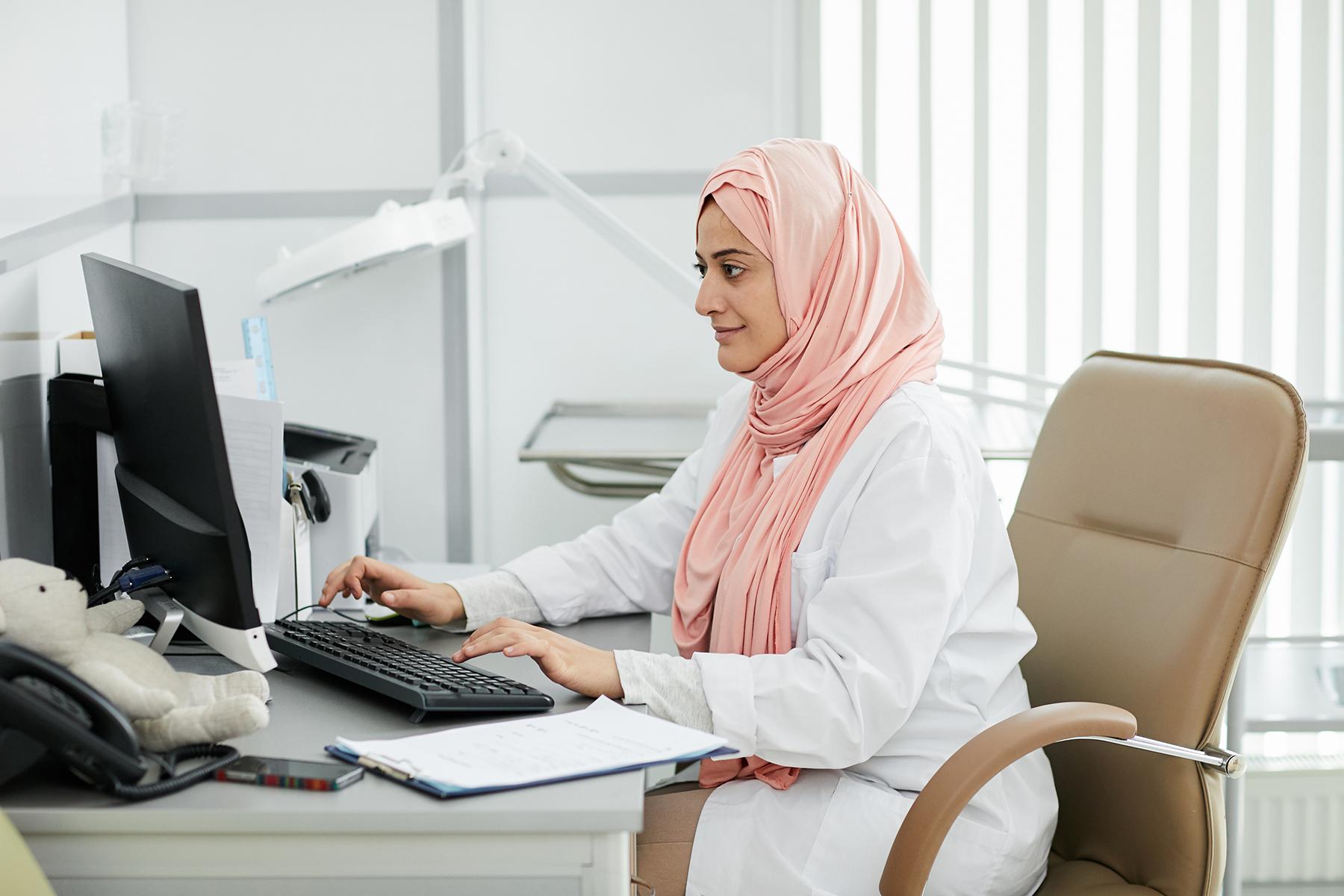 Female doctor in Dubai