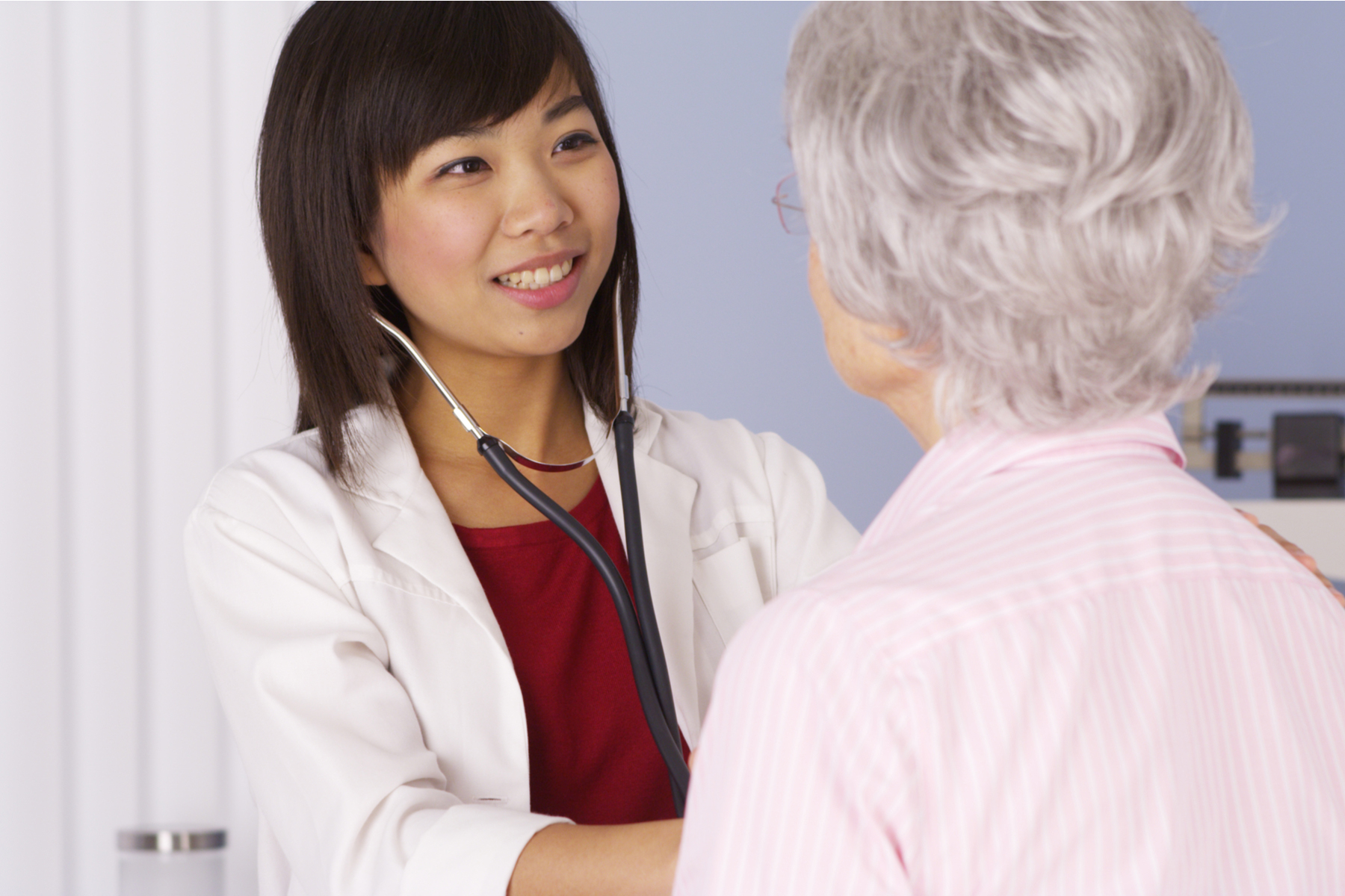 Doctor with a menopausal patient