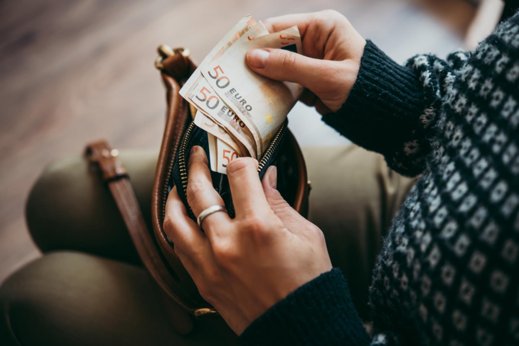 Wallet full of euros