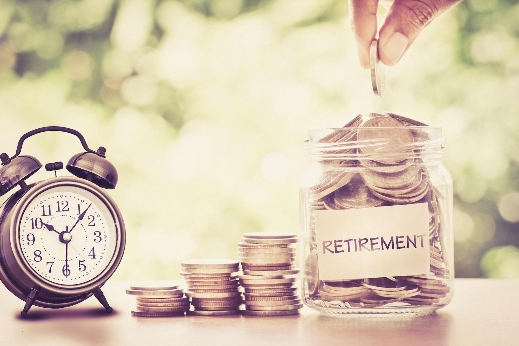 Retirement jar of money