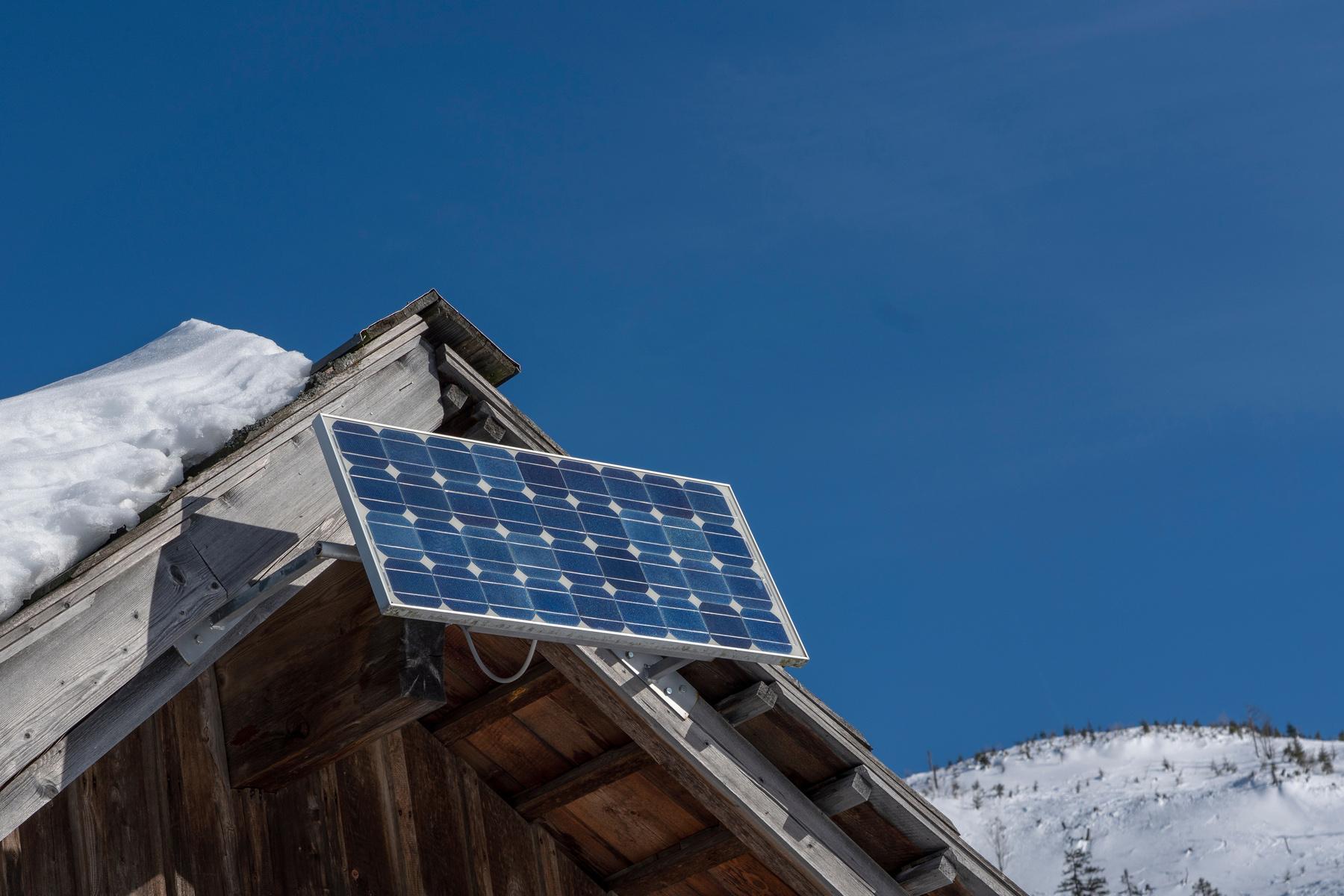 Solar panel in Austria