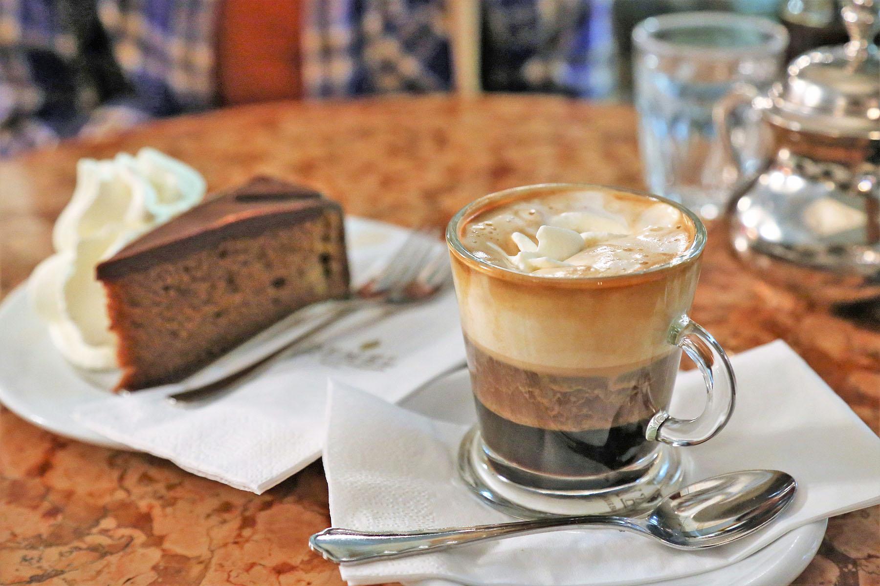 Coffee and Sachertorte