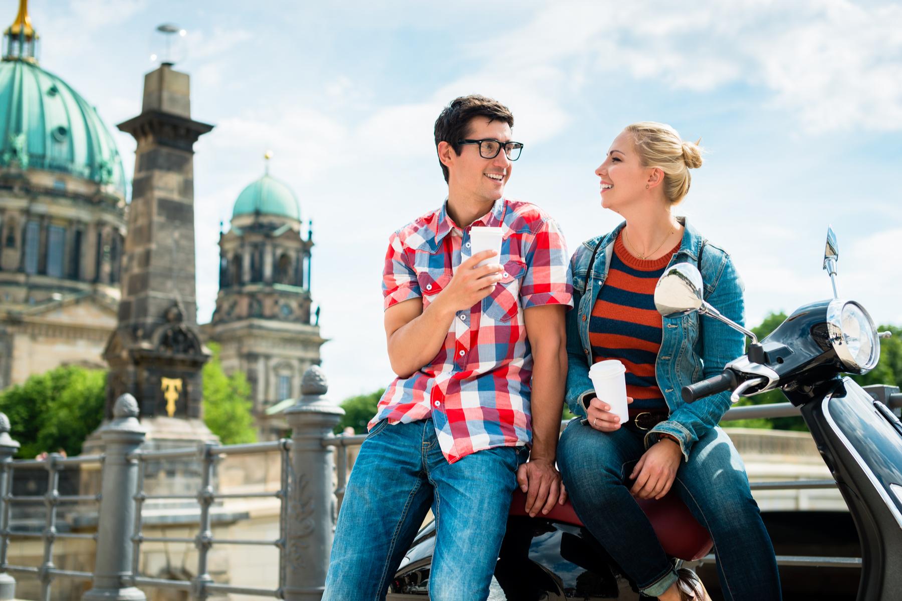 Happy couple in Vienna