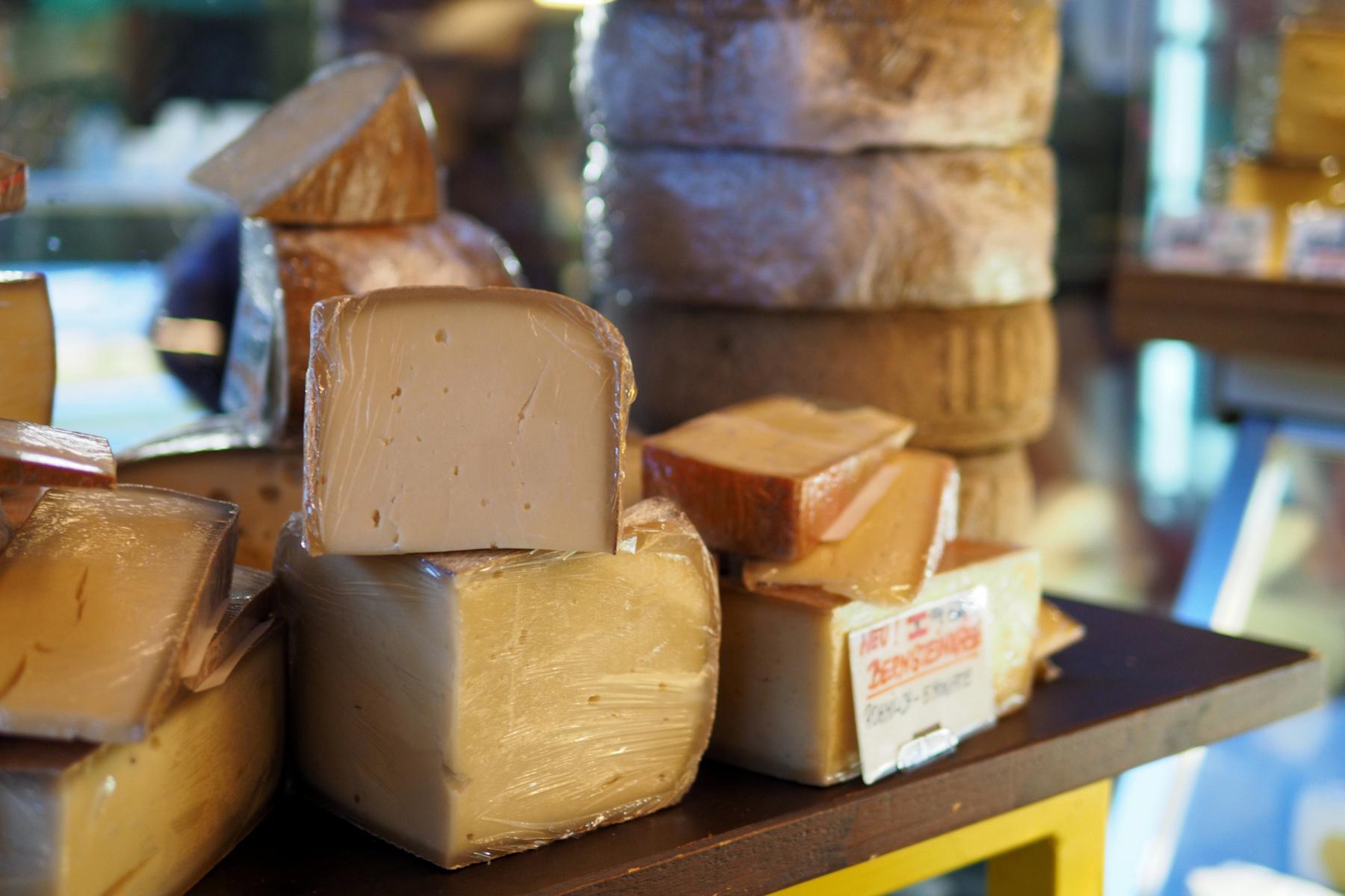 Cheese at the Naschmarkt in Vienna