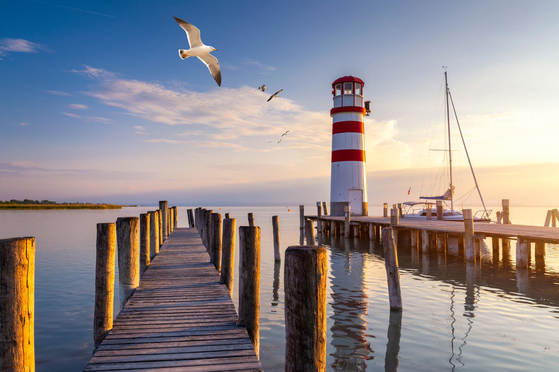 Lighthouse on Lake Neusiedl
