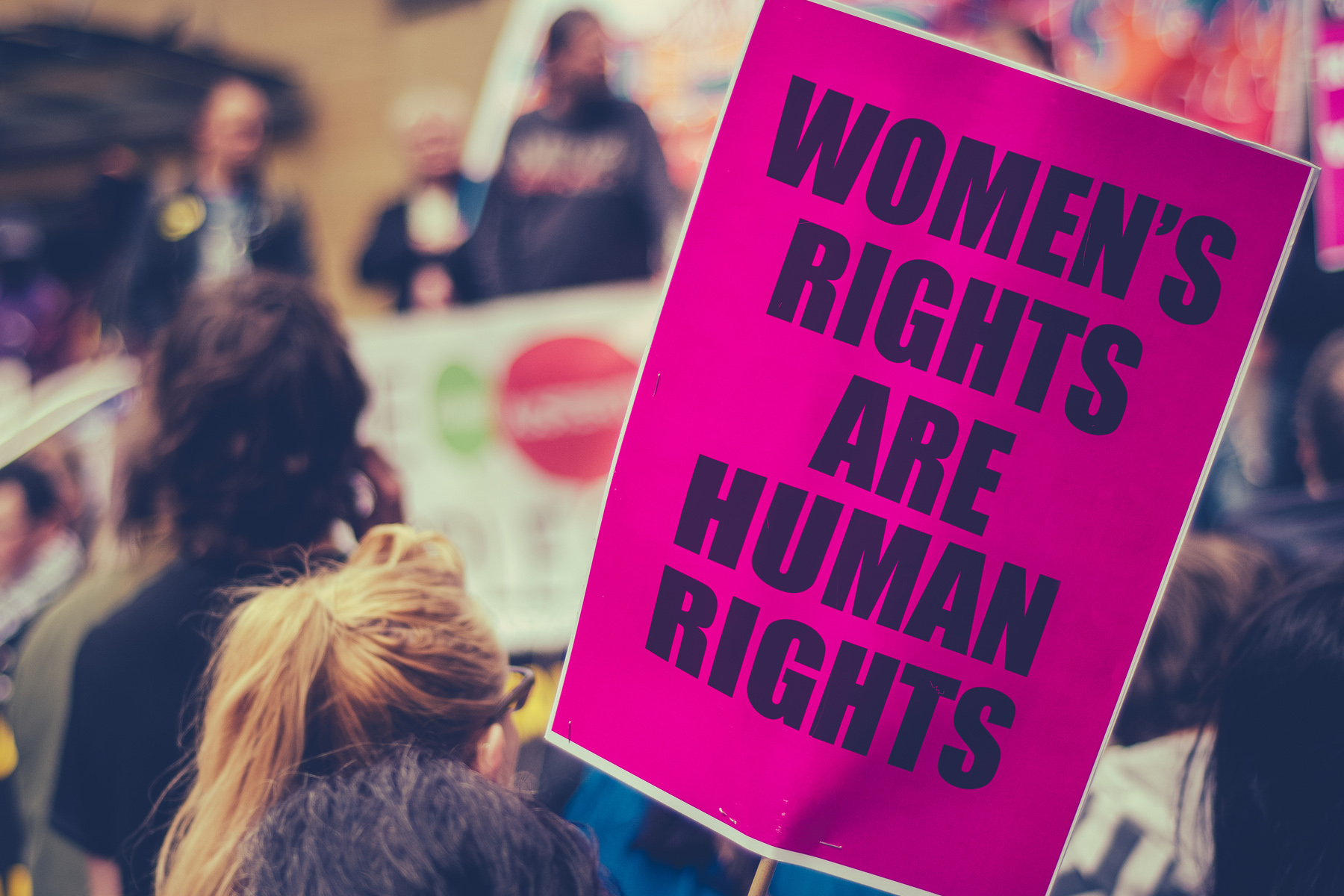Women's rights protest sign