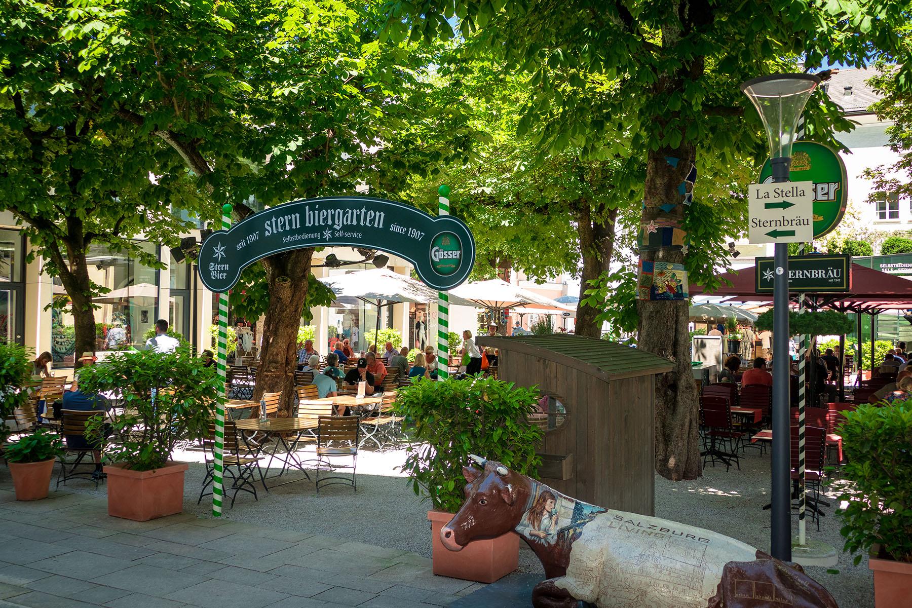 Salzburg beer garden