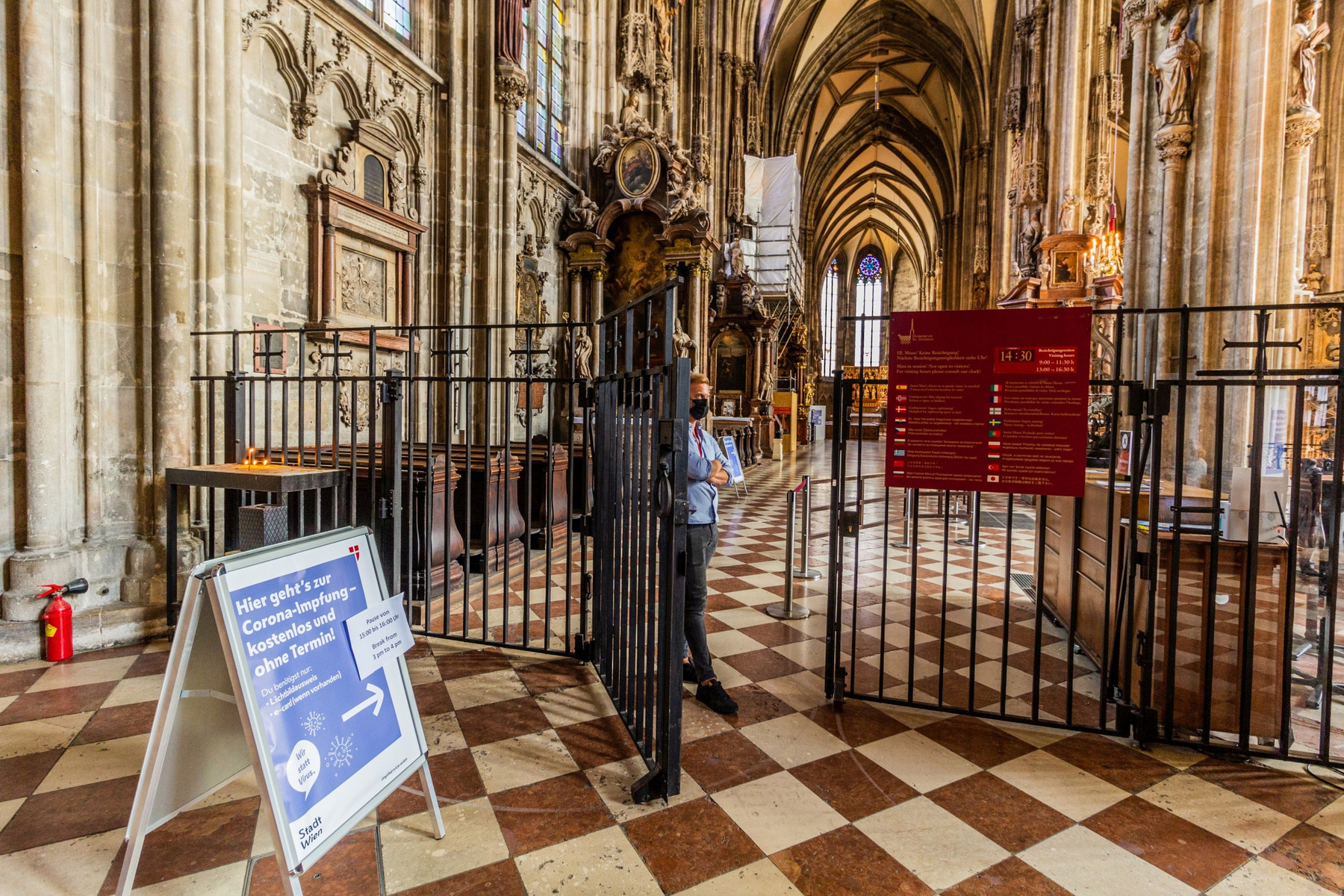 covid vaccination centre austria inside st stephens cathedral vienna