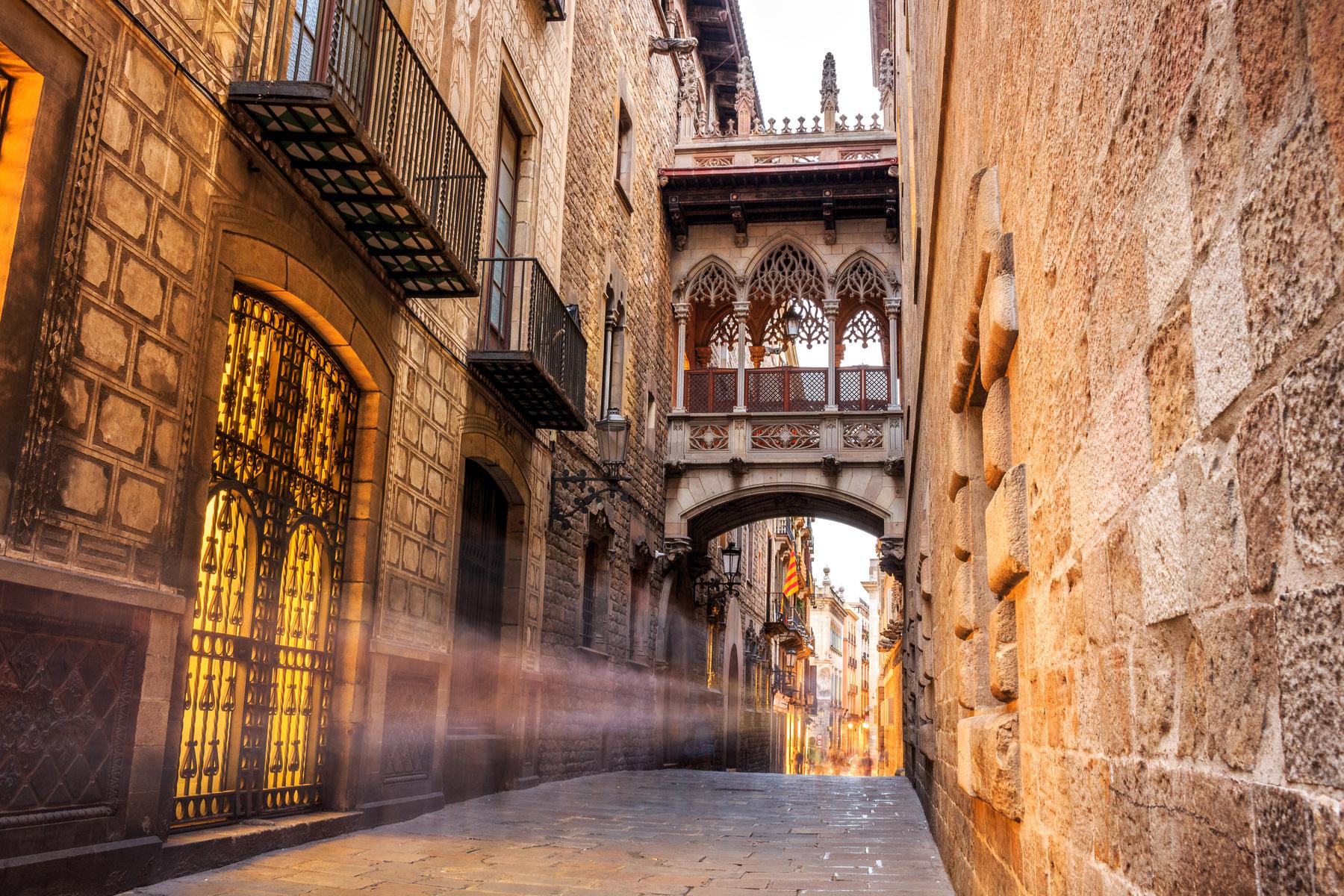 Barri Gòtic quarter in Barcelona