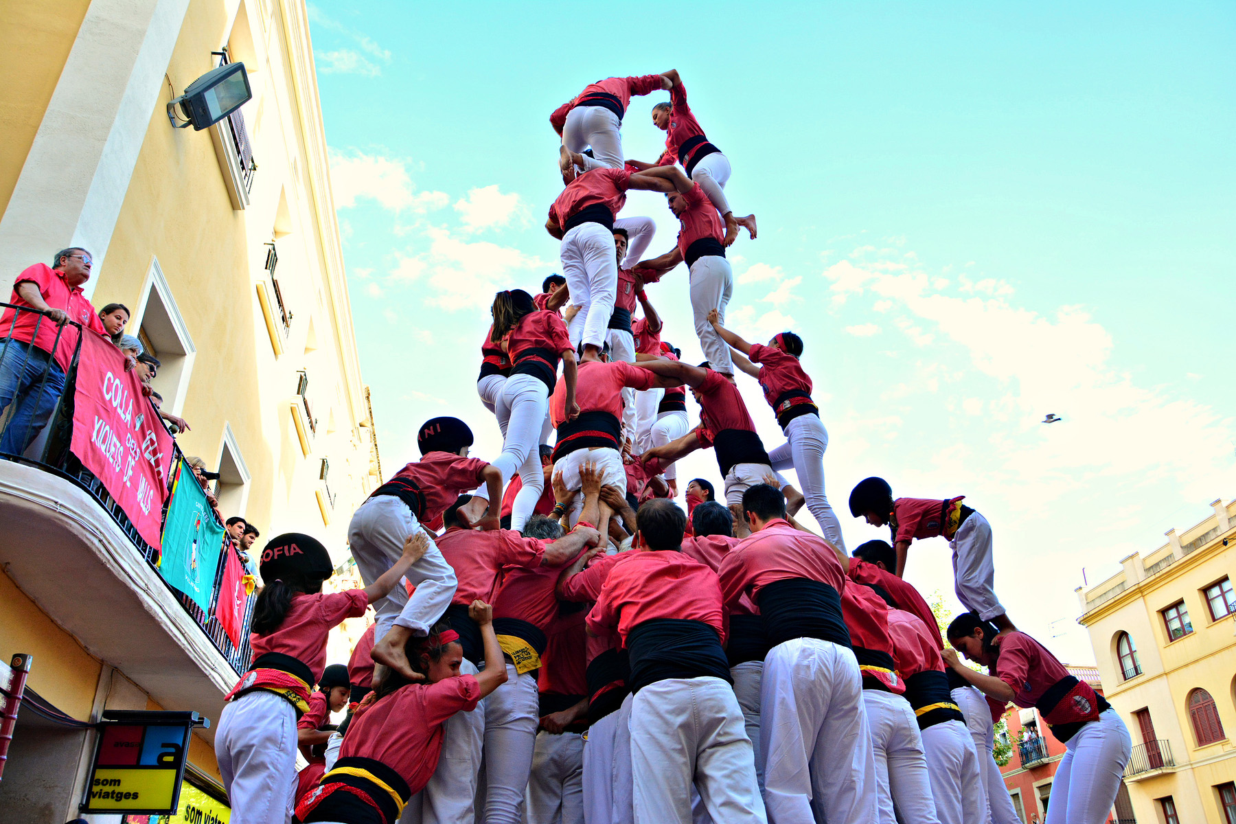 Catalan tradition of the human tower