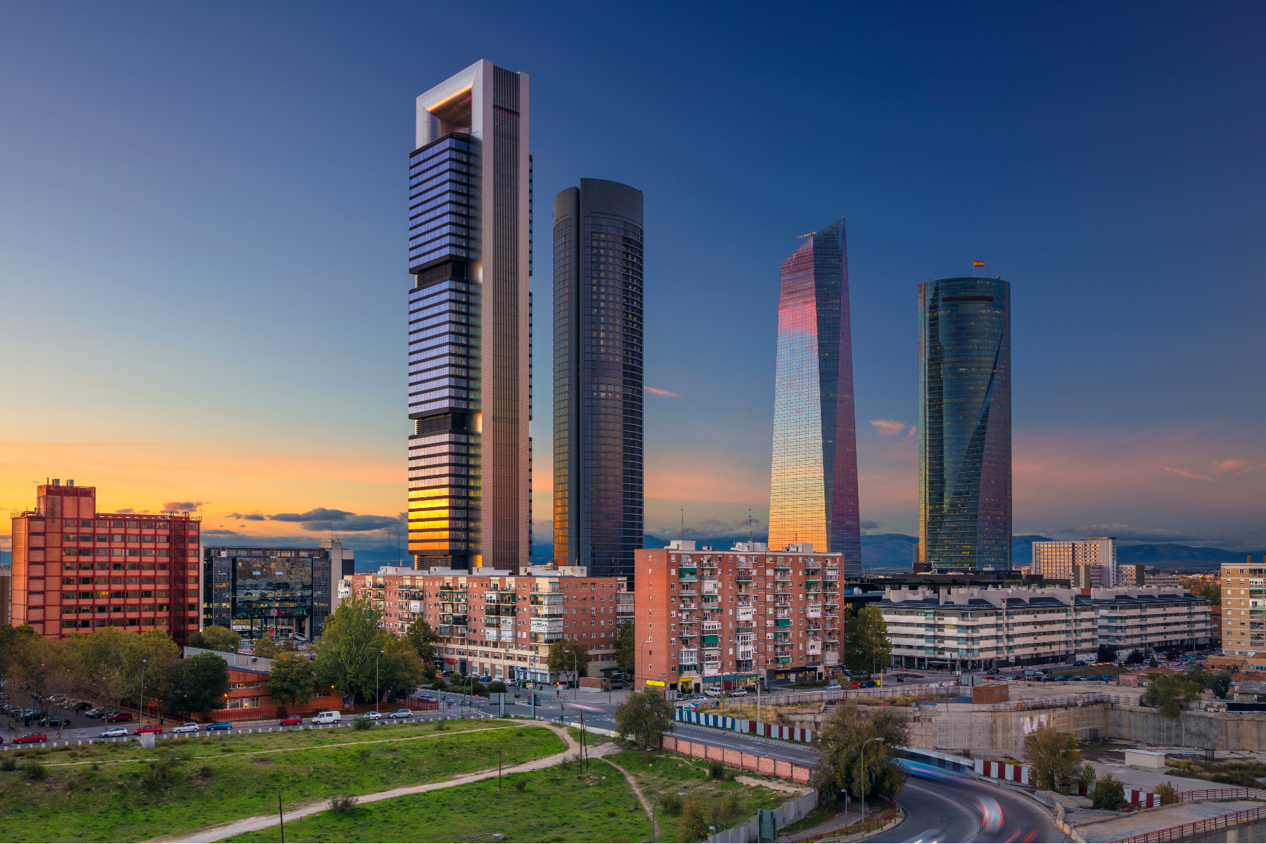 Madrid business district