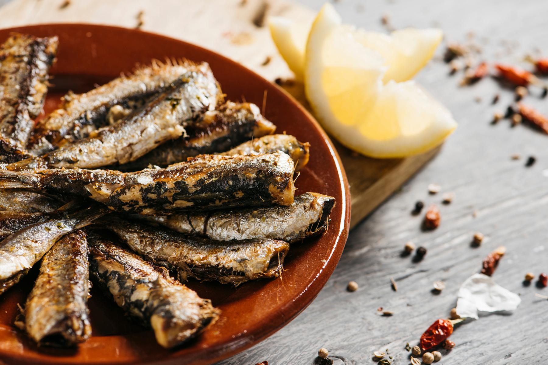 Spanish grilled sardines