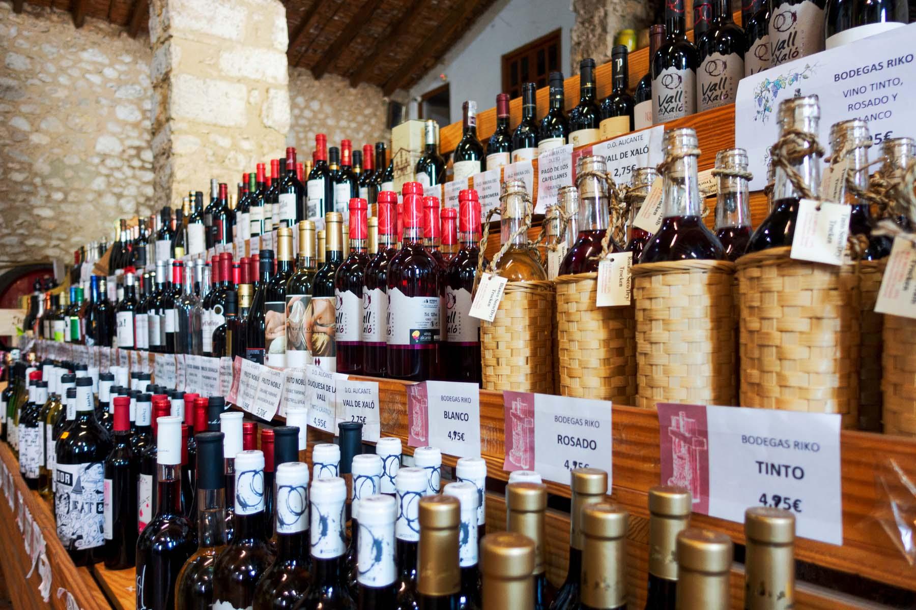 Spanish wine store