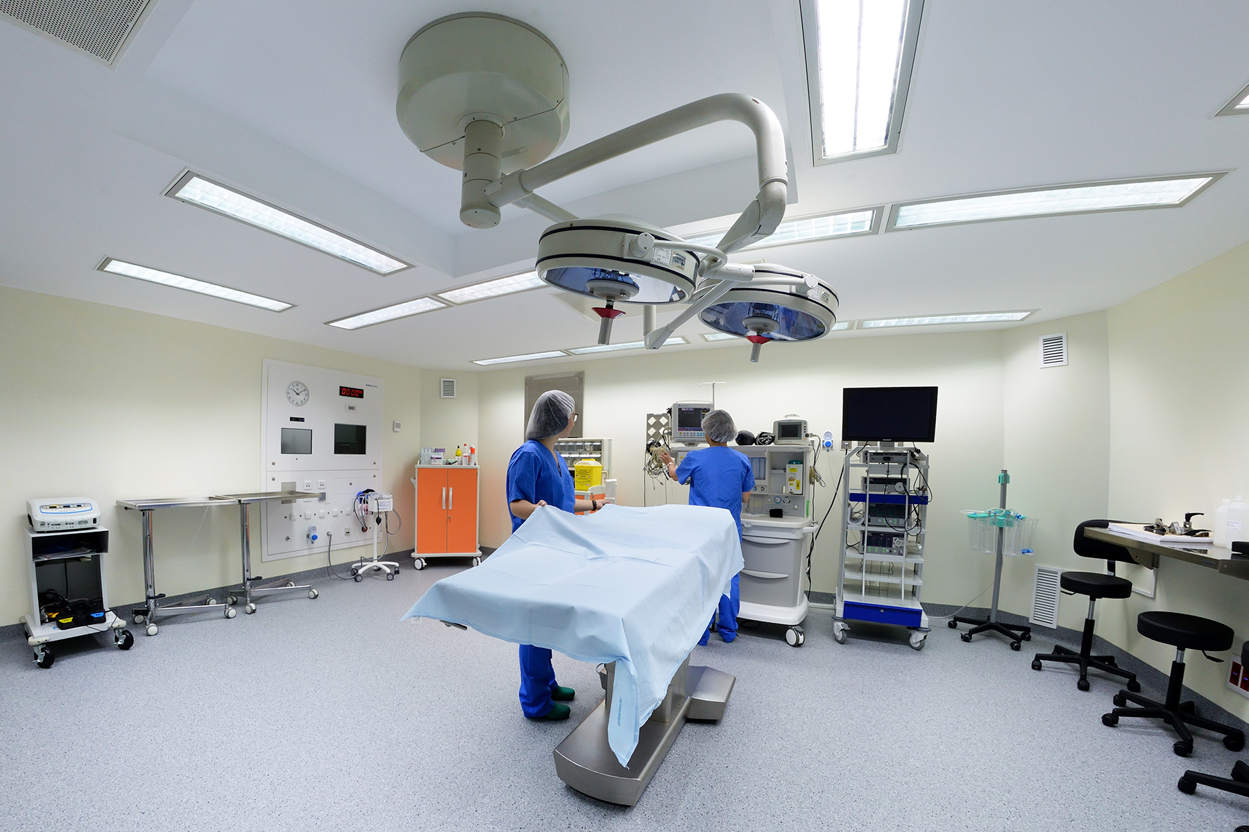 An operating room in a Barcelona hospital