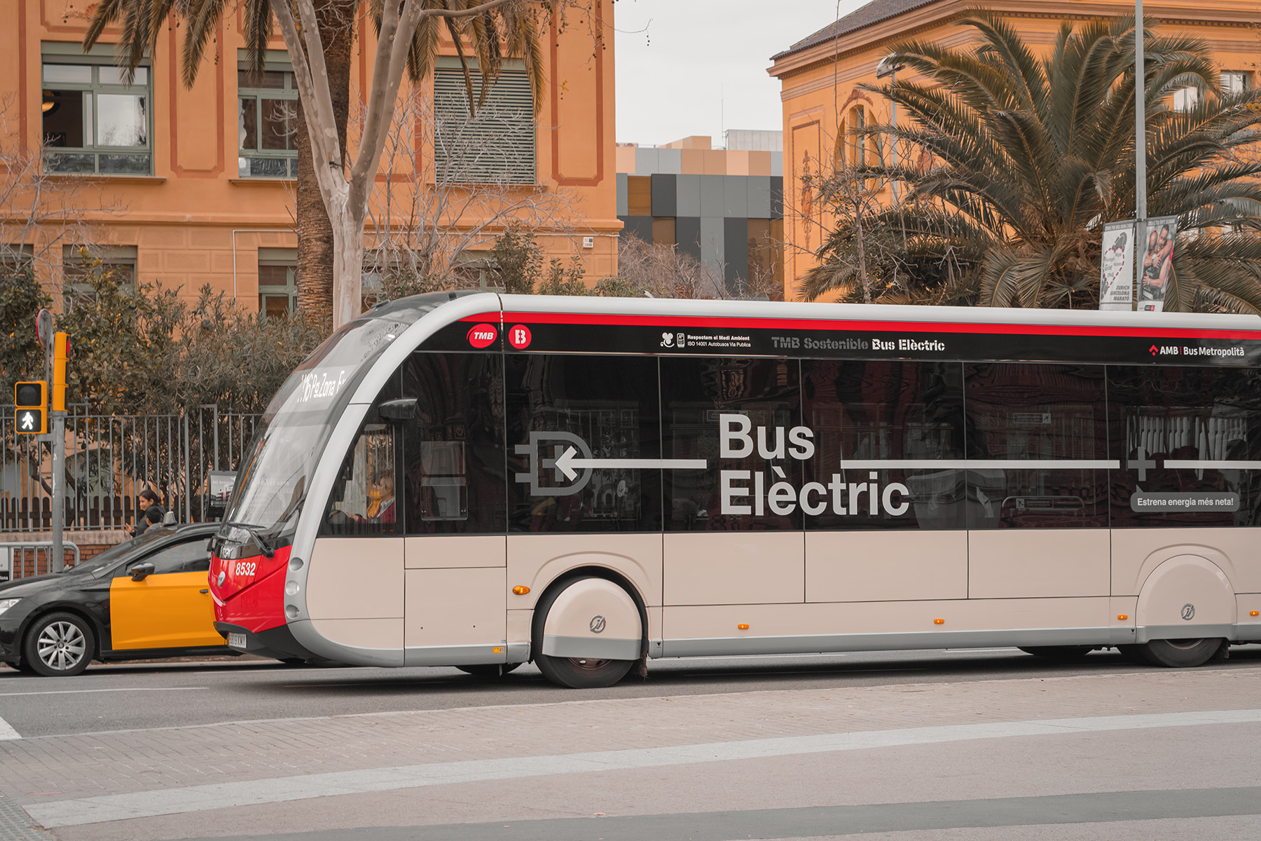 Electric bus in Barcelona