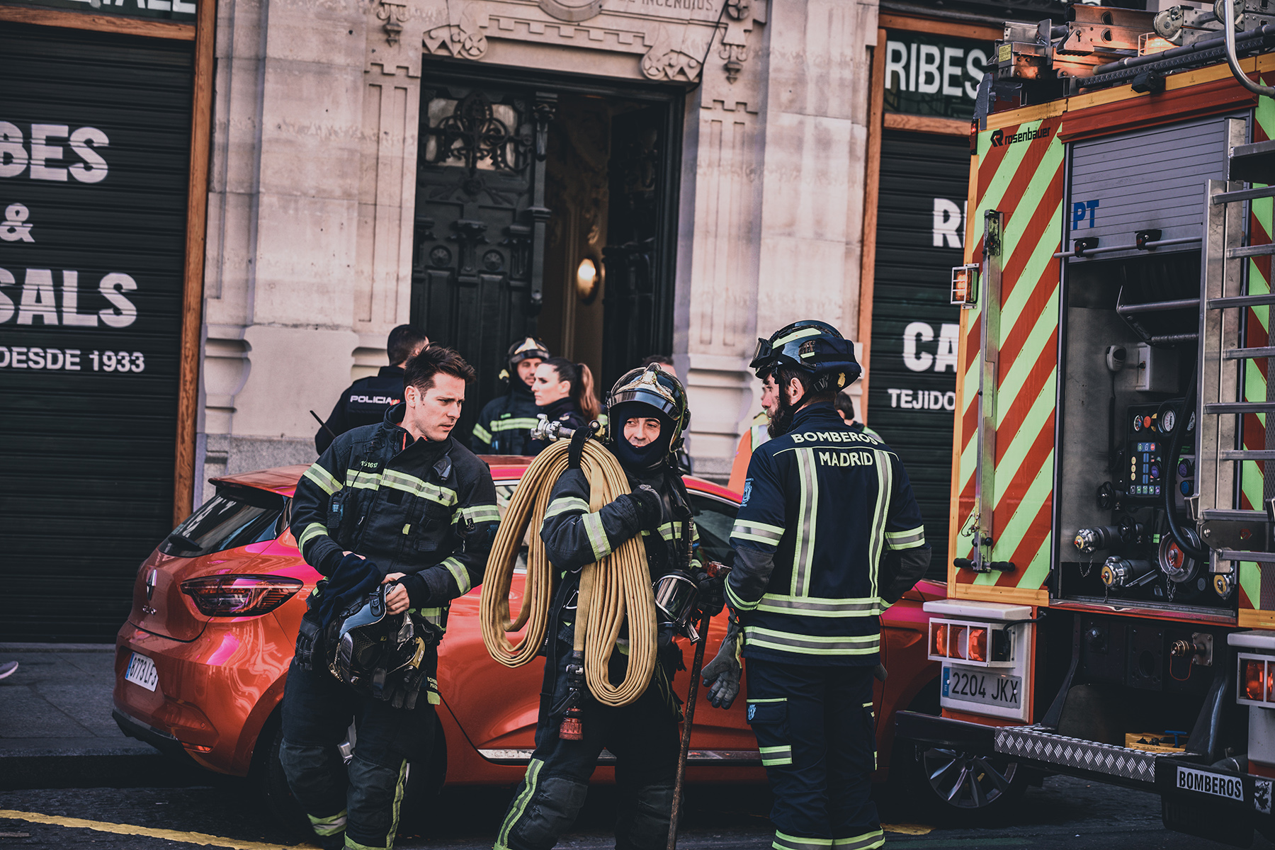 Firefighters in Madrid