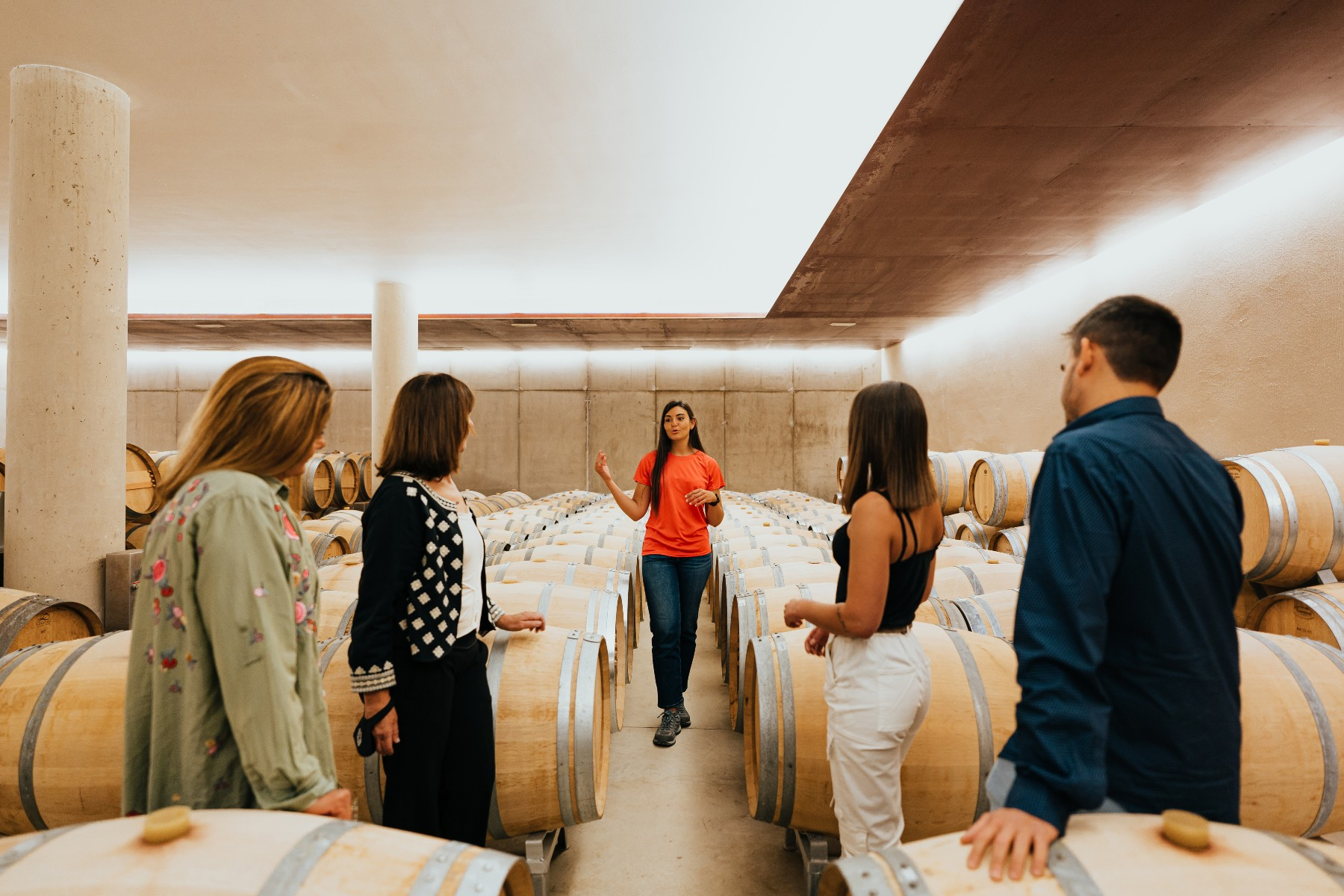 guide with group, Spain wine tourism