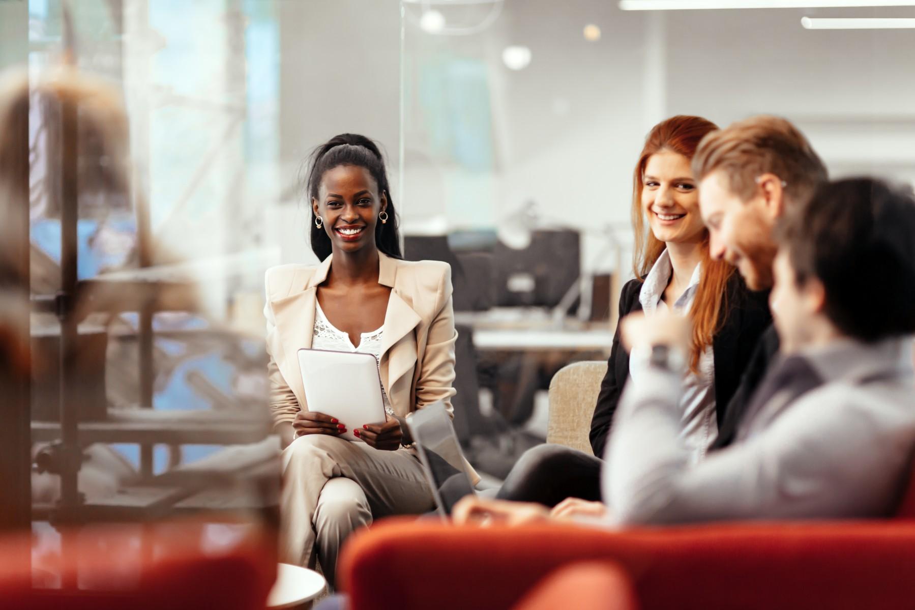 women working in Spain office