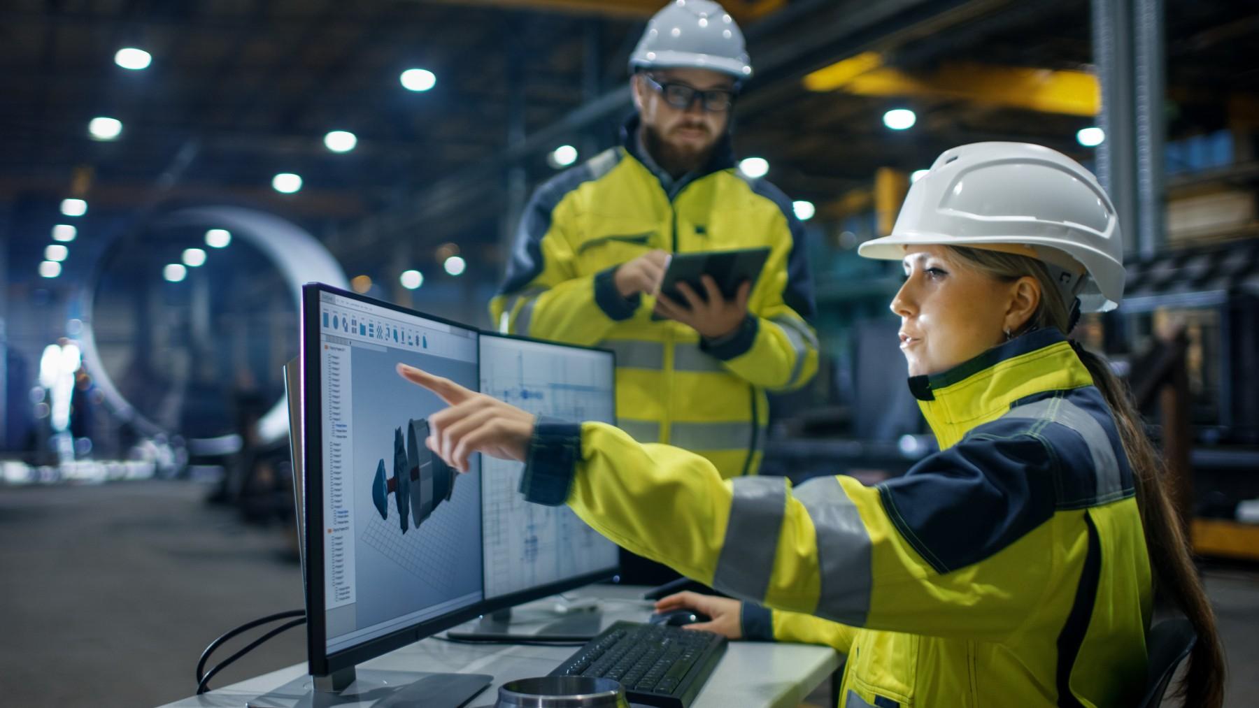 woman working in industrial job in Spain