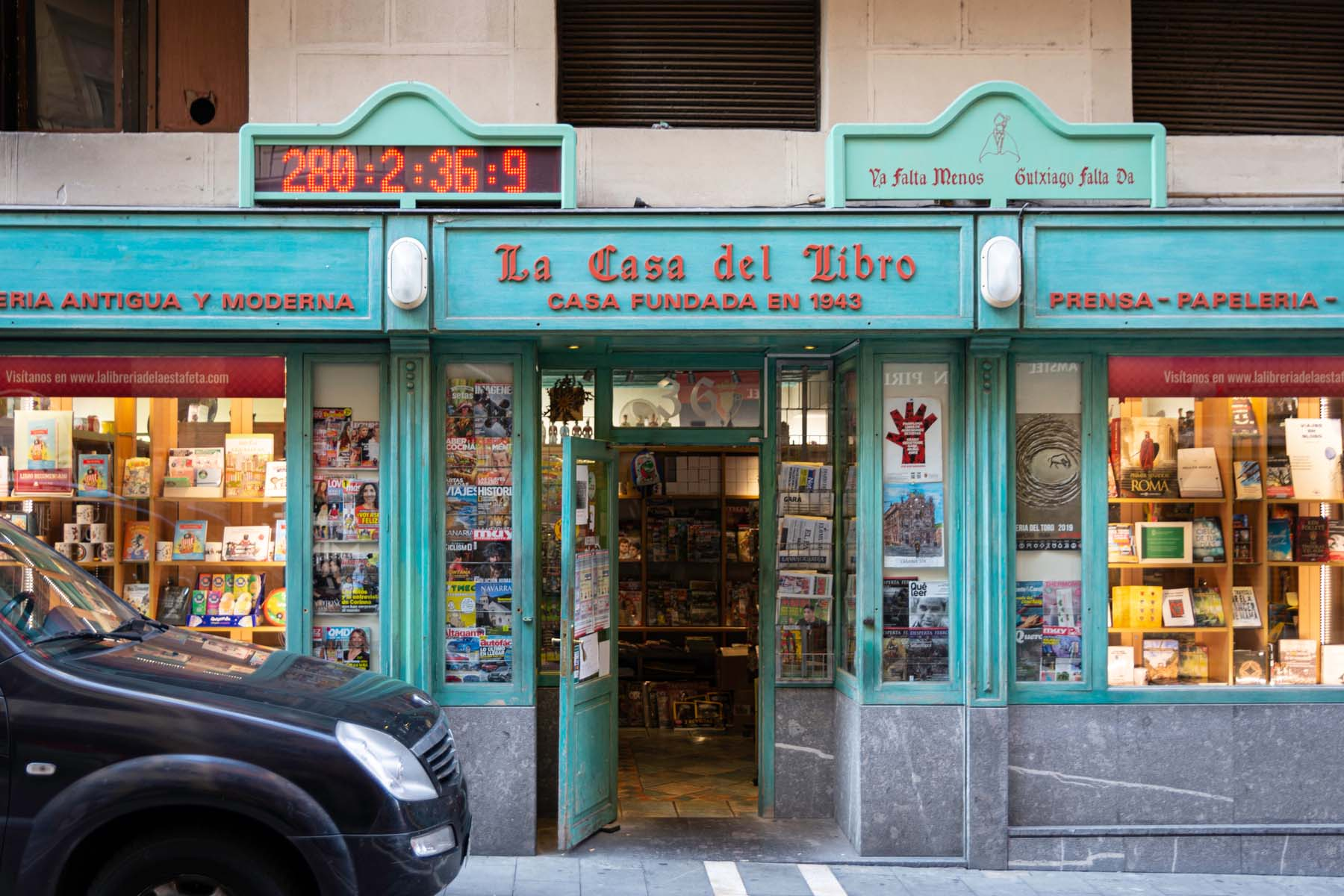 Bookstore in Spain