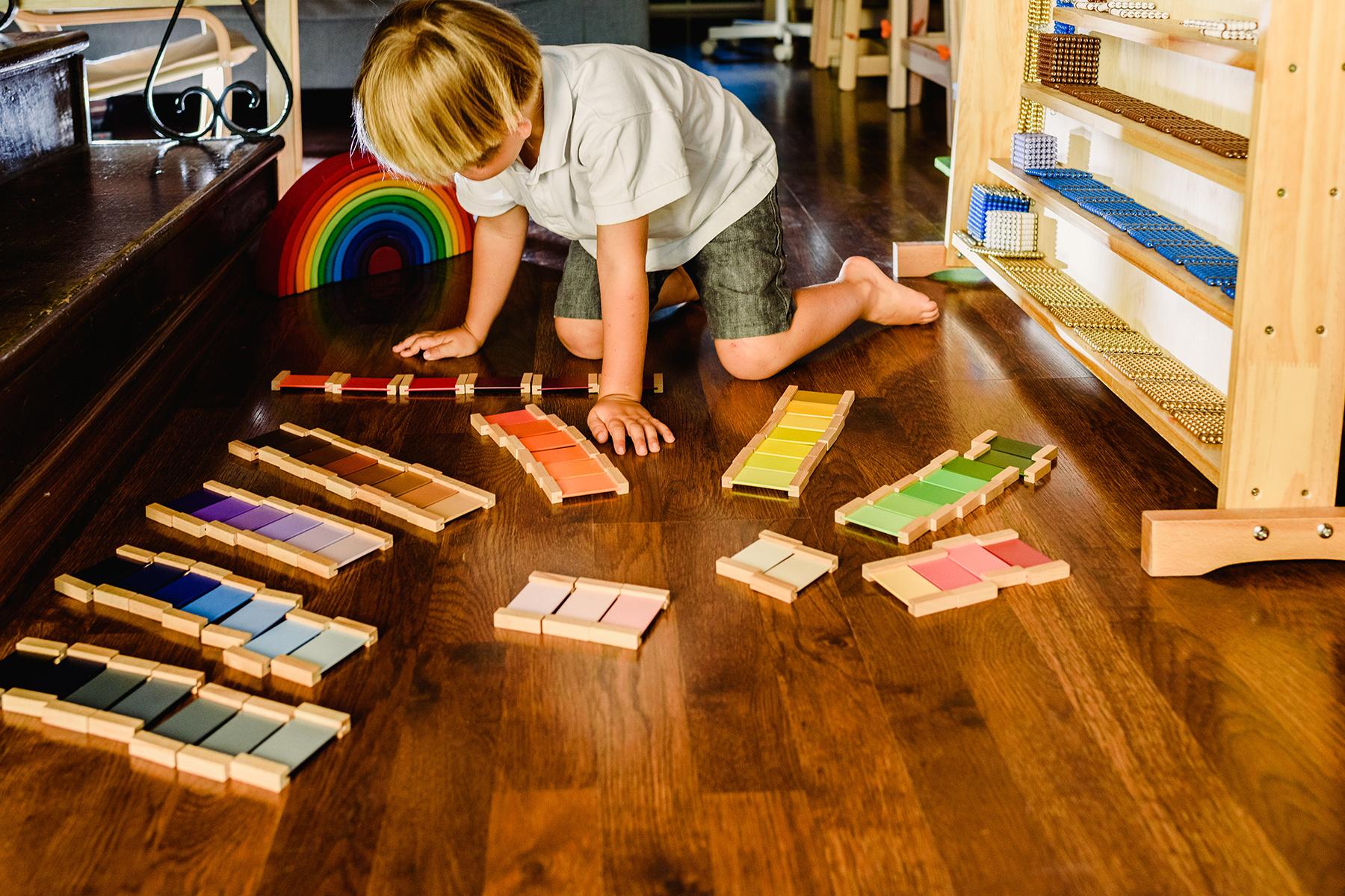 A child at a Montessori school in Spain
