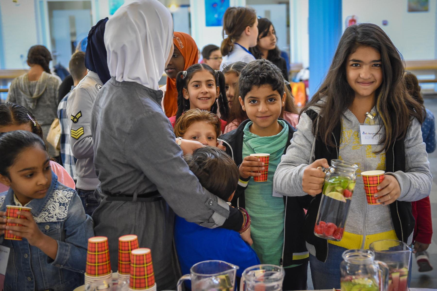 Refugee children in Aalsmeer, the Netherlands