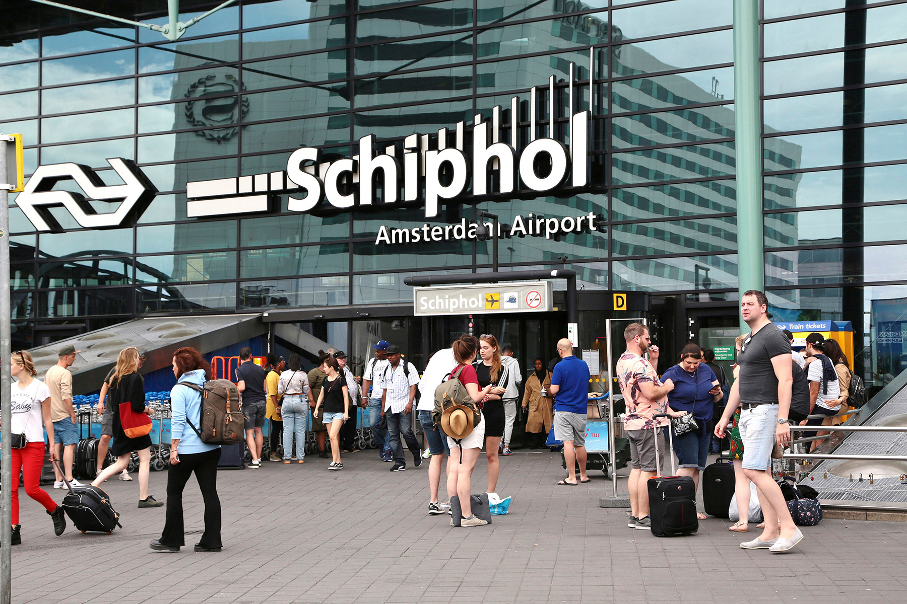 Arrivals at Schiphol airport