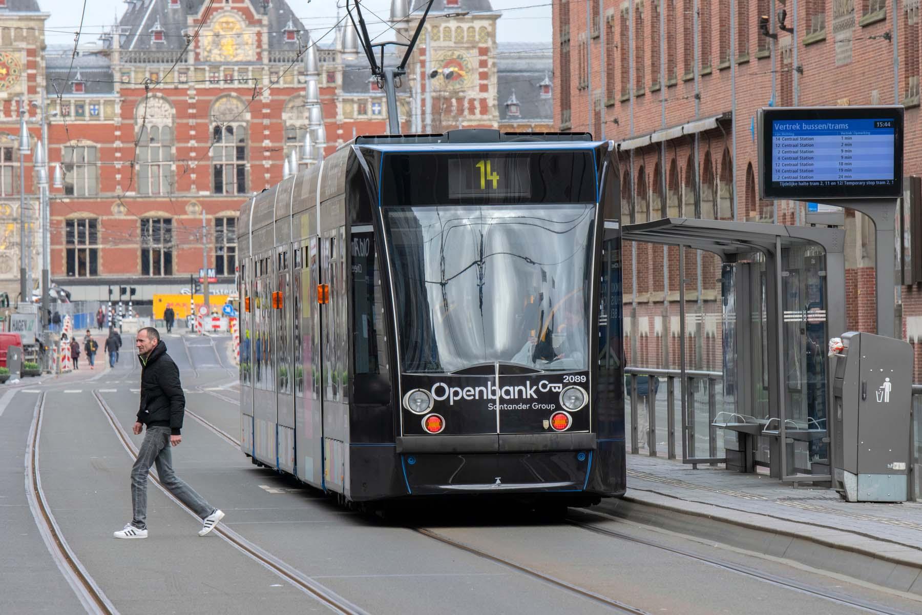 openbank tram in Amsterdam