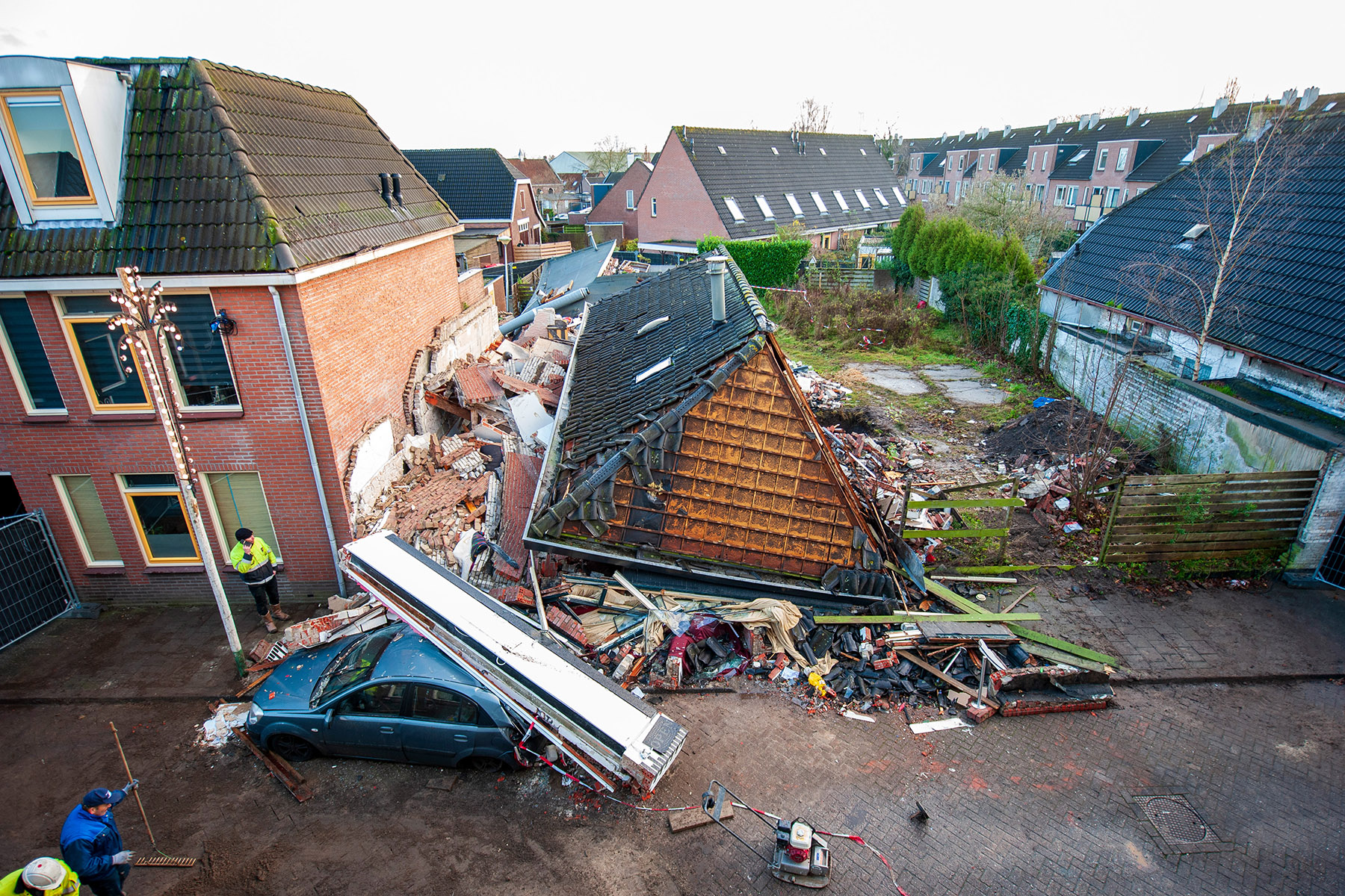 Collapsed home in Coevorden, the Netherlands