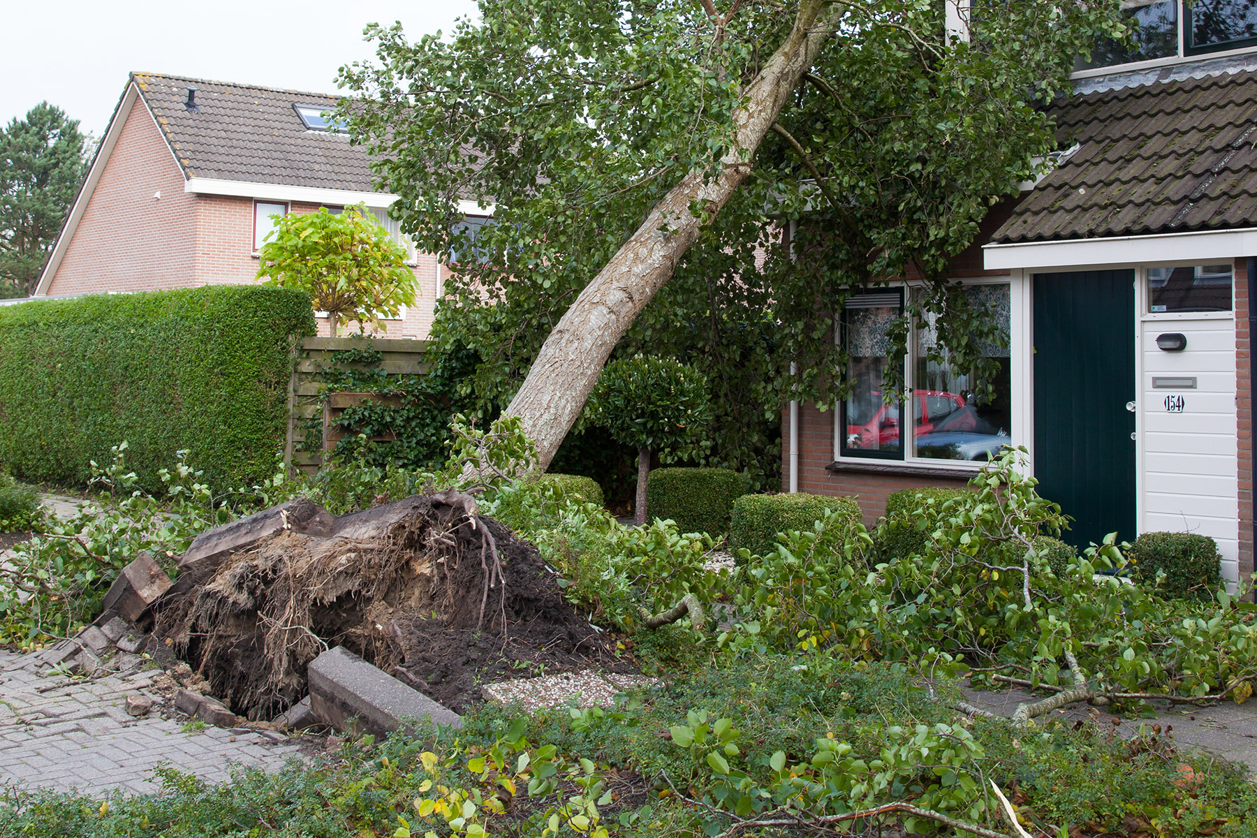 Storm-damaged home in Leeuwarden
