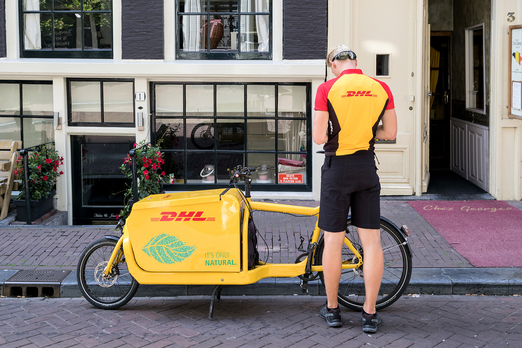 DHL delivery bike in Amsterdam
